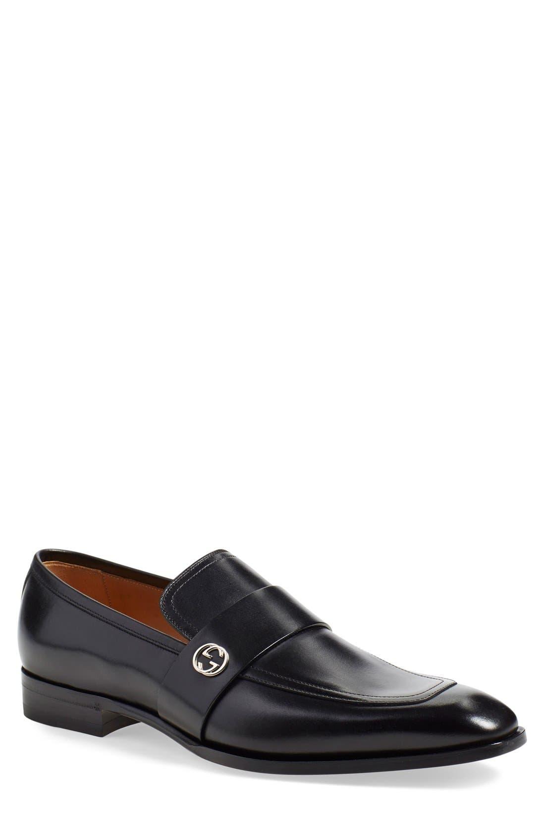 'Broadwick' Loafer,                         Main,                         color, 001