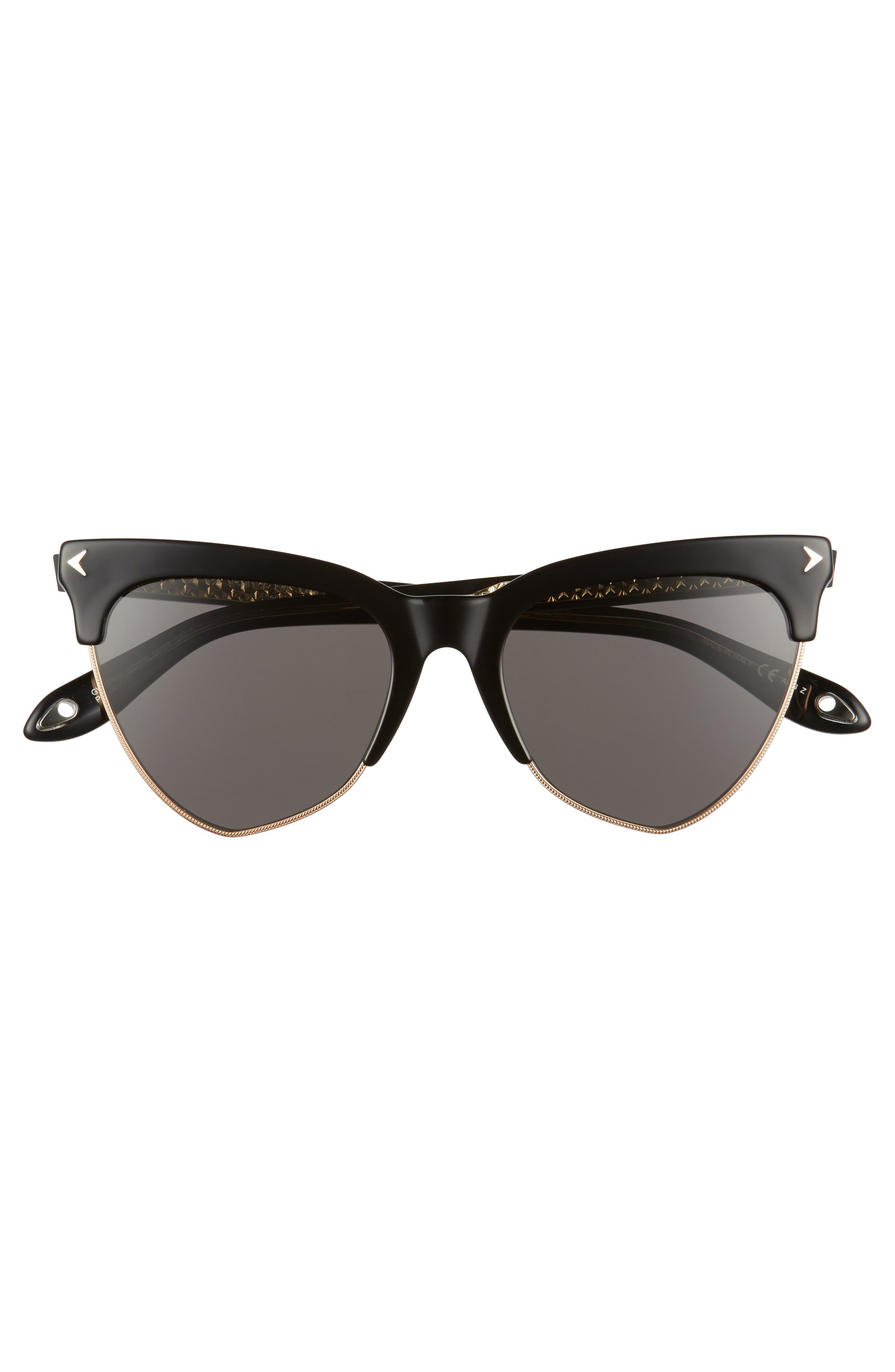 54mm Polarized Cat Eye Sunglasses,                             Alternate thumbnail 3, color,                             001
