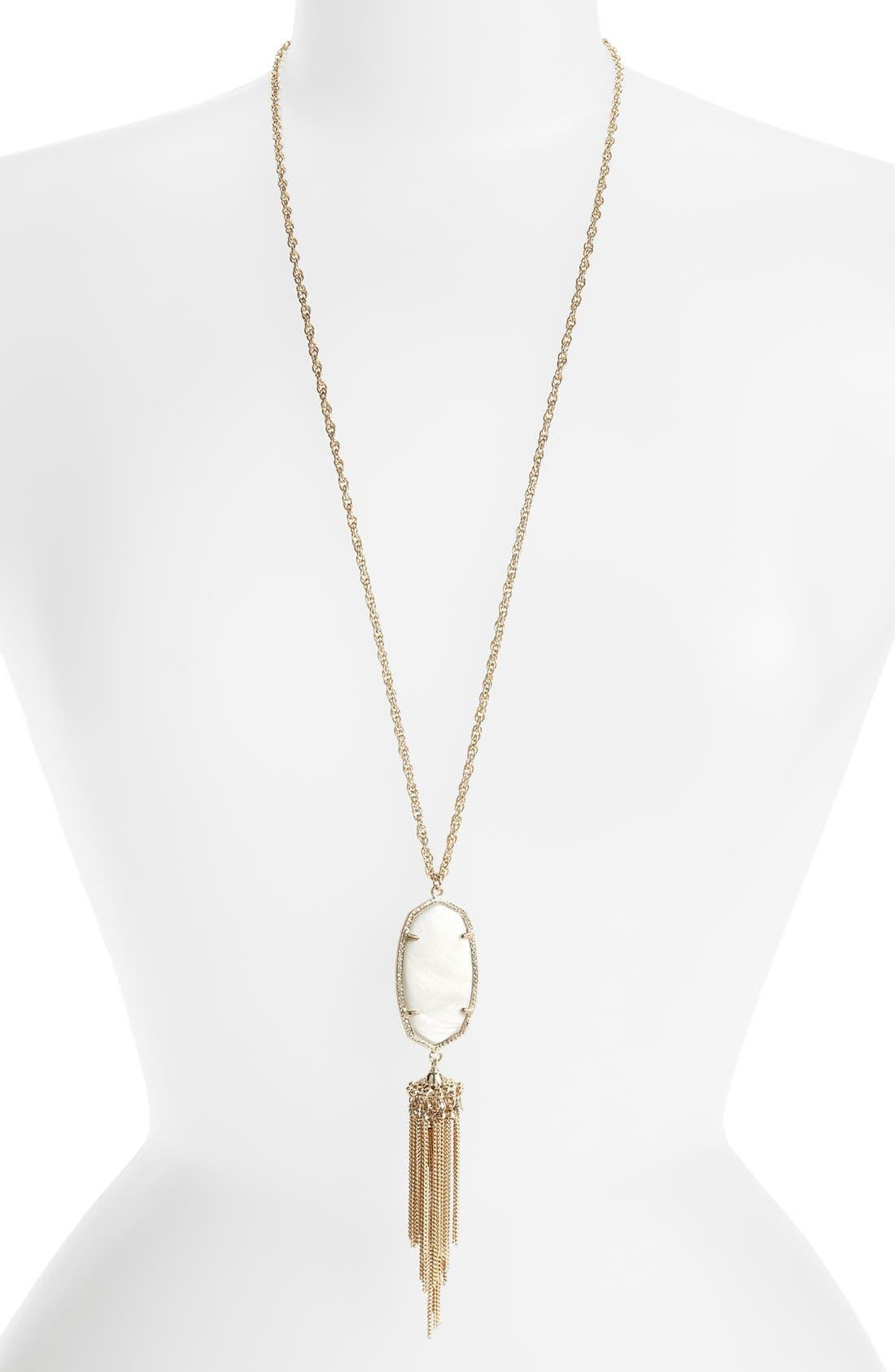 Rayne Stone Tassel Pendant Necklace,                             Alternate thumbnail 366, color,