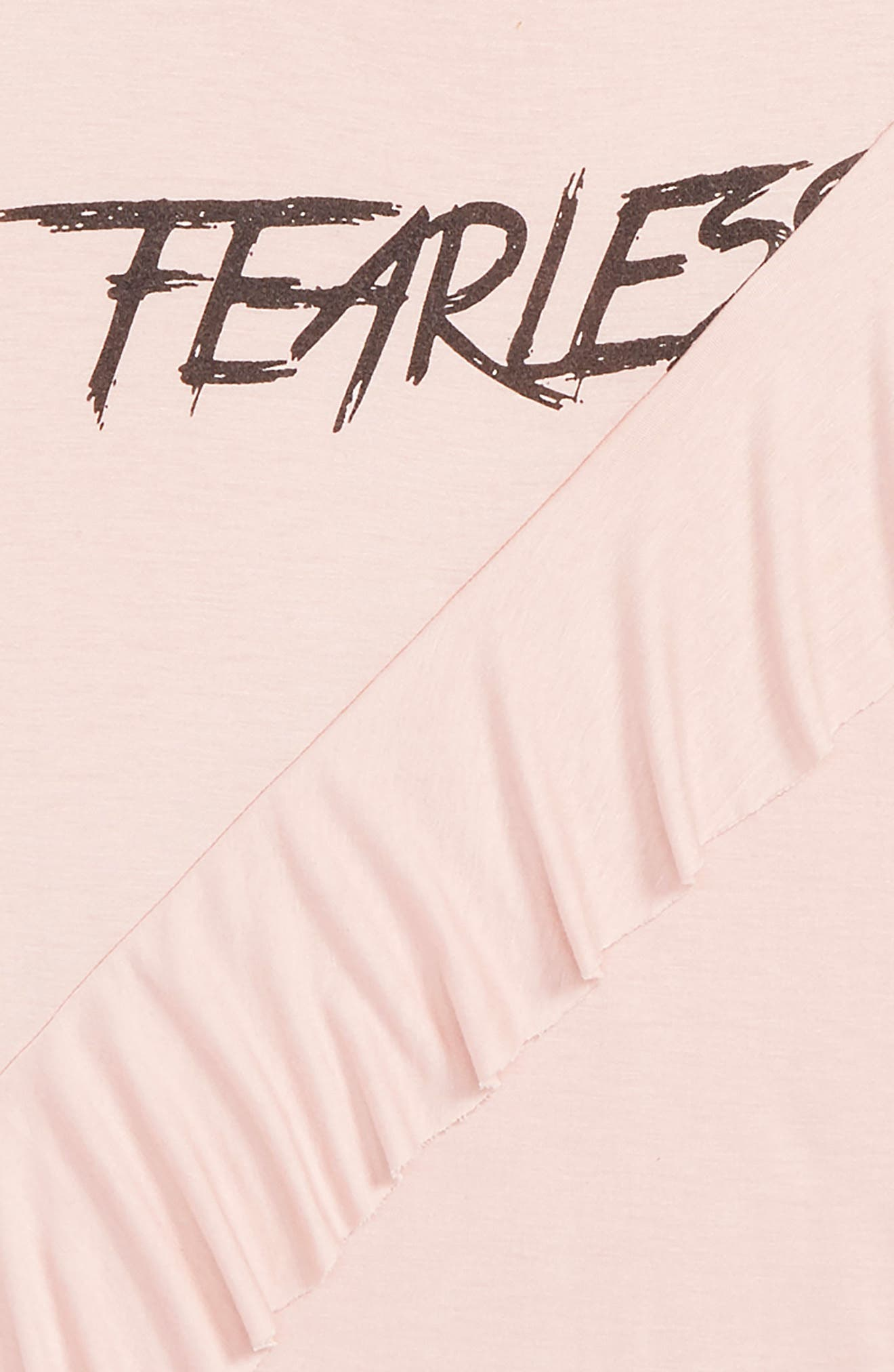 Asymmetric Ruffle Tee,                             Alternate thumbnail 2, color,                             PINK PEACHSKIN FEARLESS