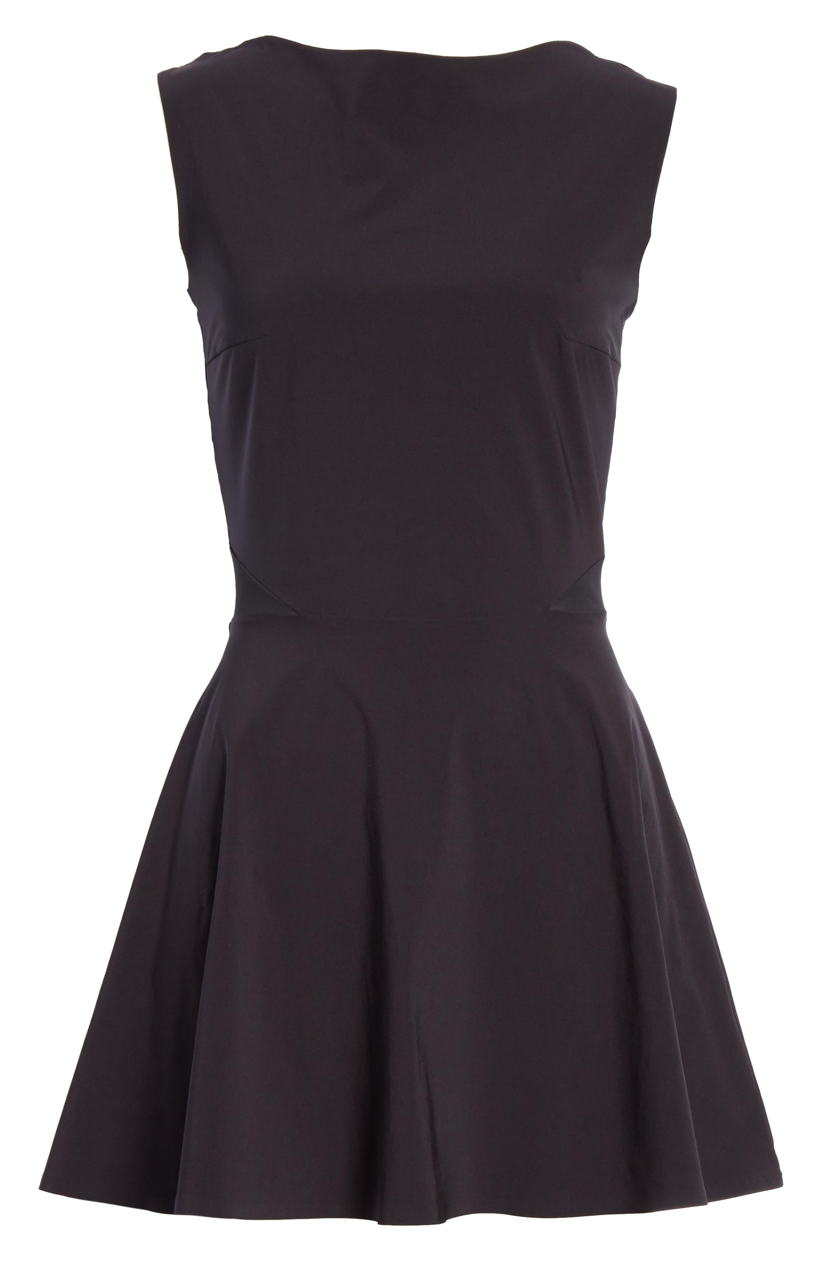 Grand Slam Dress,                             Alternate thumbnail 7, color,                             BLACK