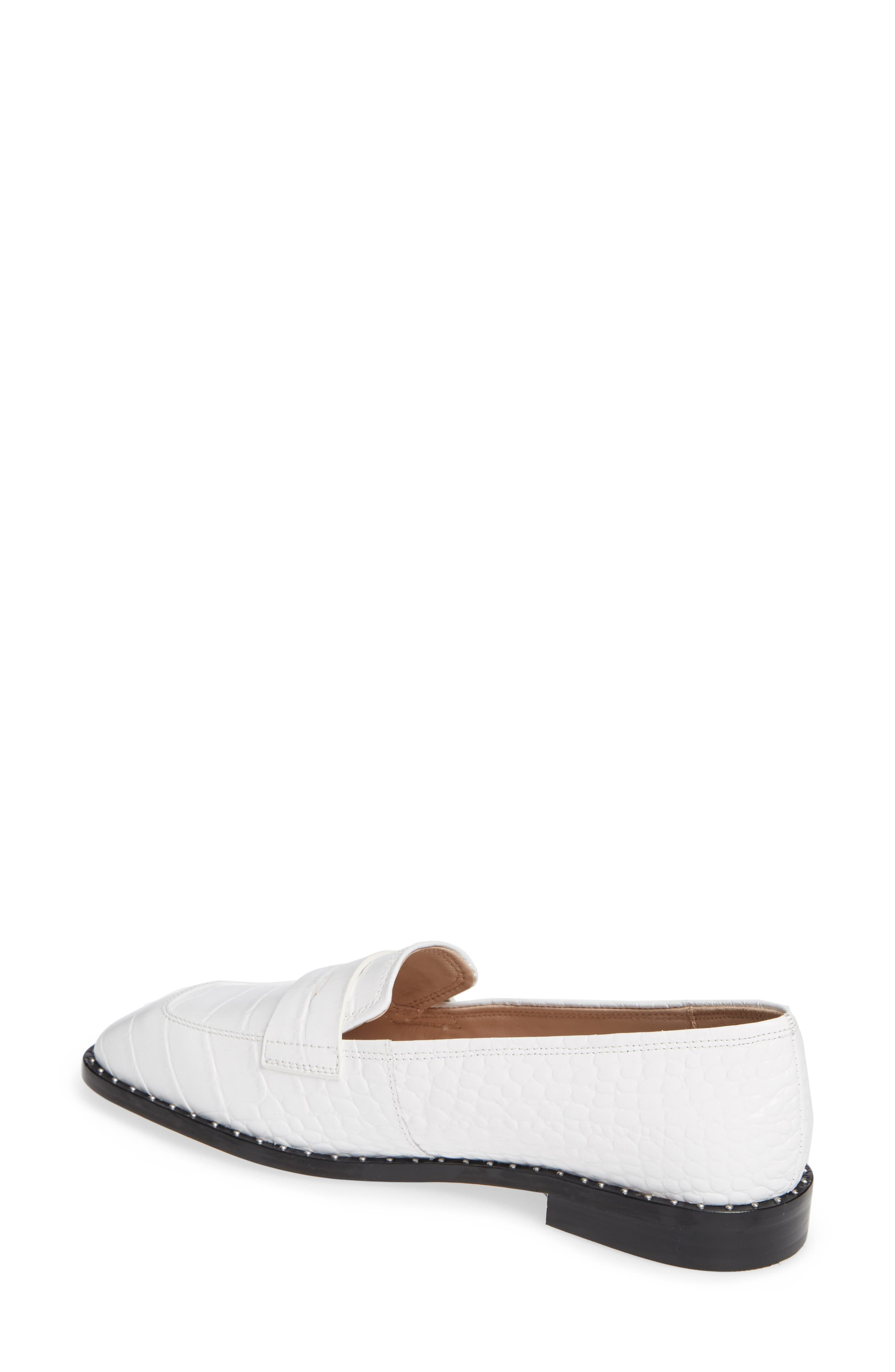Amado Loafer,                             Alternate thumbnail 2, color,                             WHITE EMBOSSED CROCO LEATHER