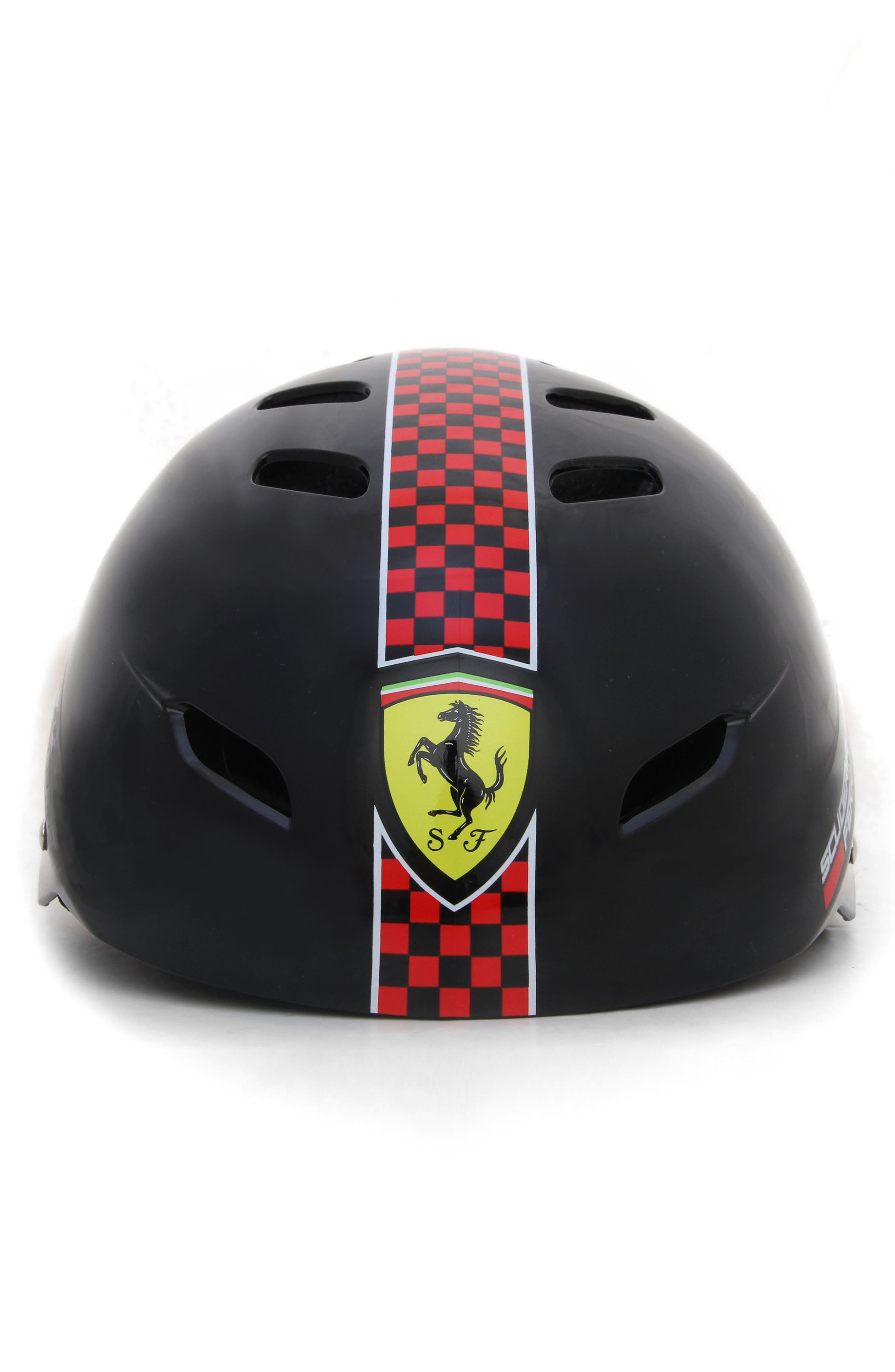 F1 Racing Helmet,                             Main thumbnail 1, color,                             BLACK