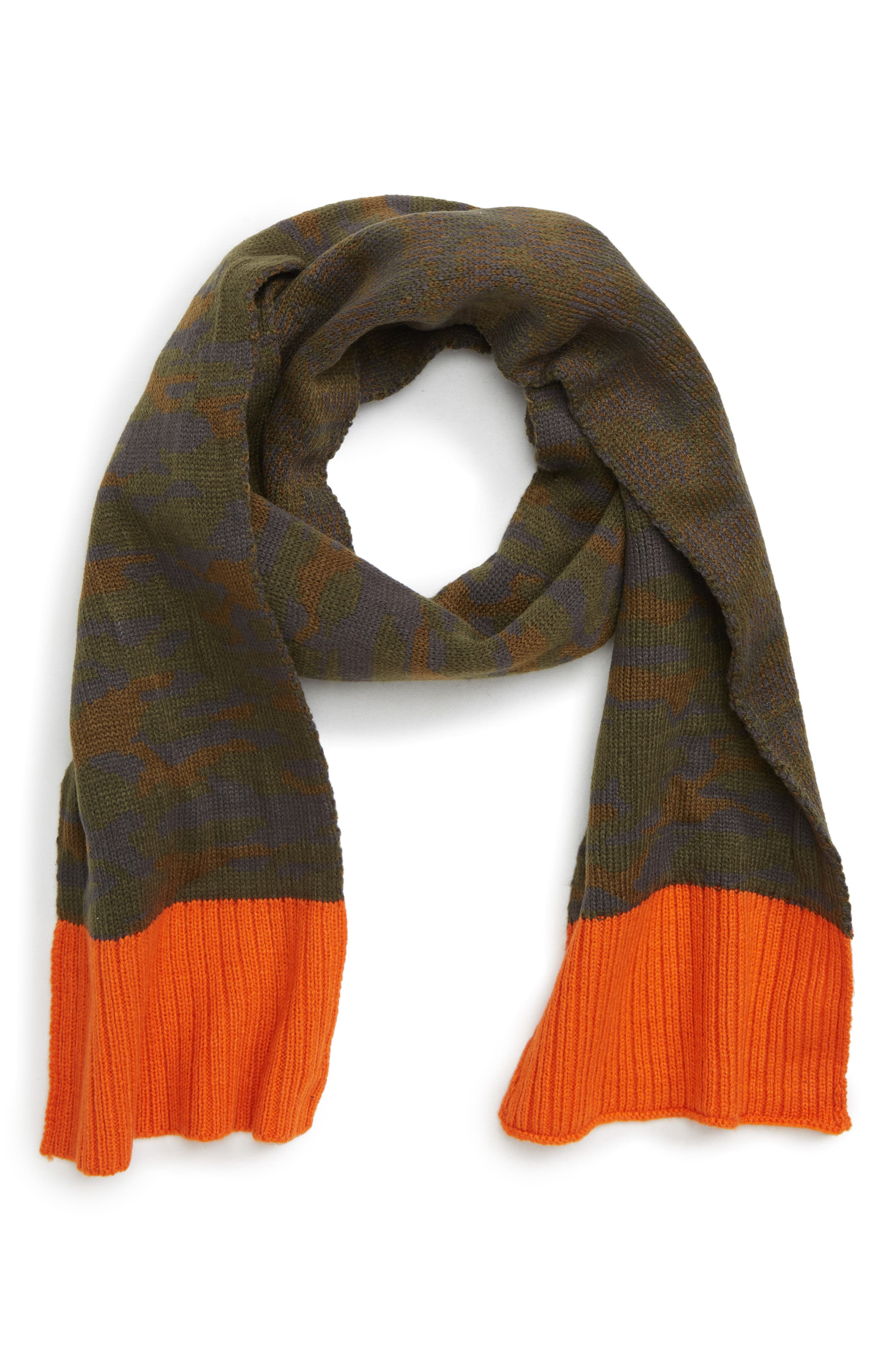 Colorblock Camo Scarf,                         Main,                         color, 300