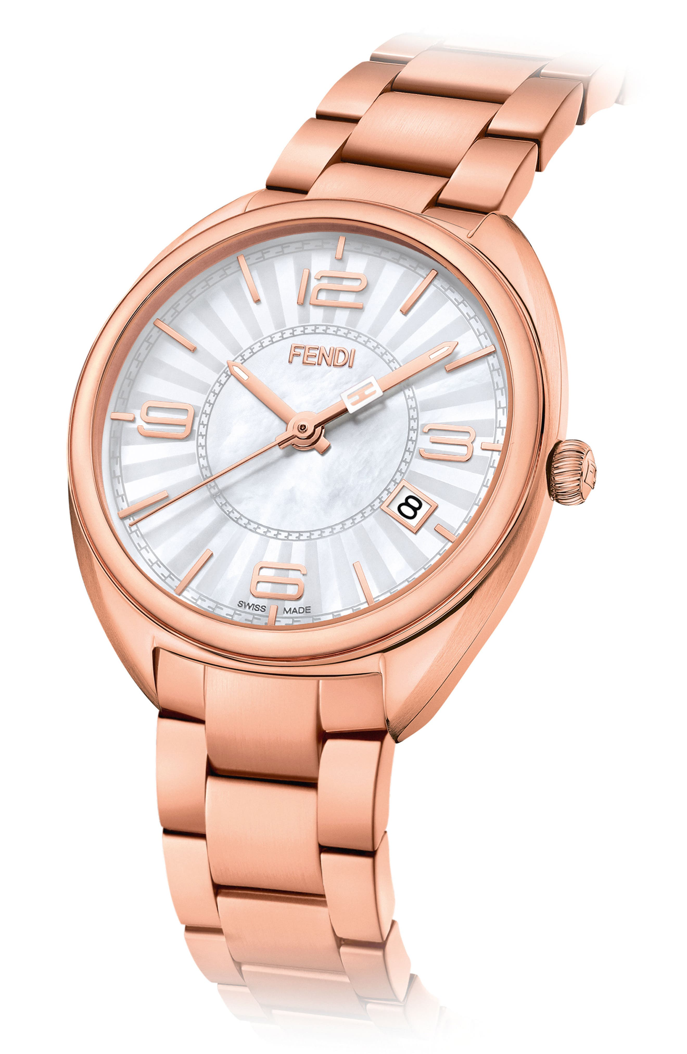 Momento Mother of Pearl Bracelet Watch, 34mm,                             Alternate thumbnail 2, color,                             711