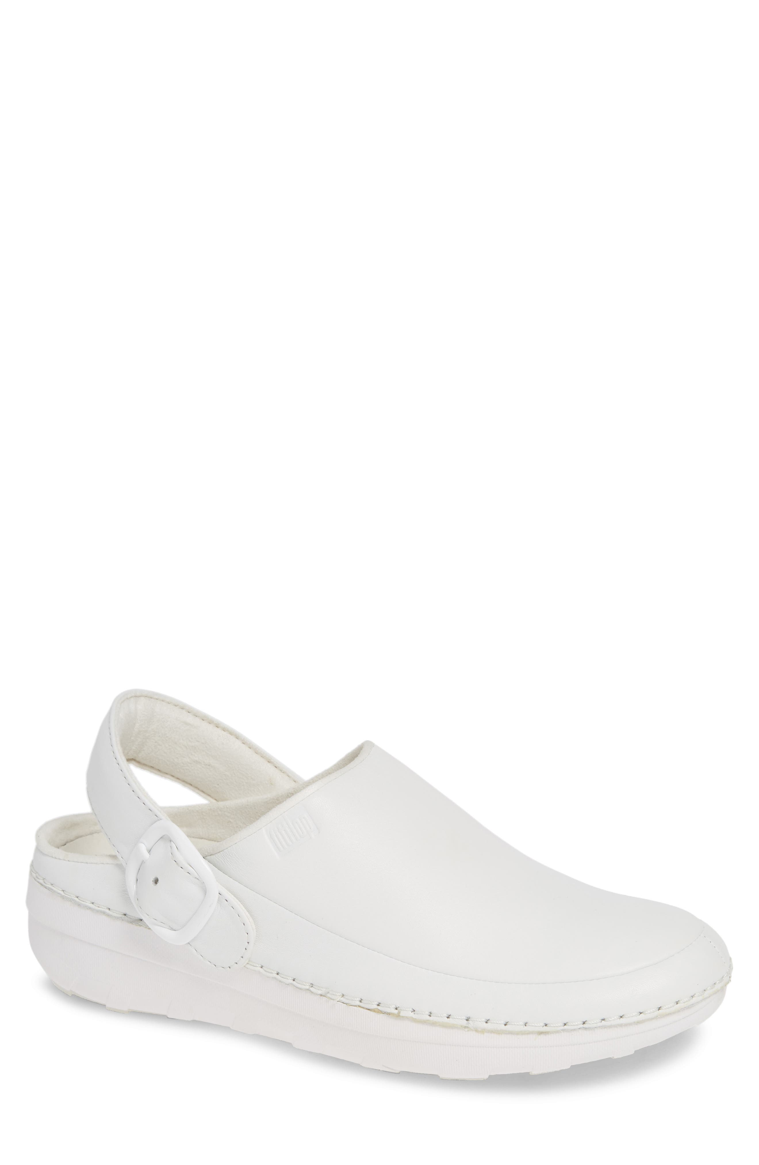 Gogh Pro Clog,                         Main,                         color, WHITE LEATHER