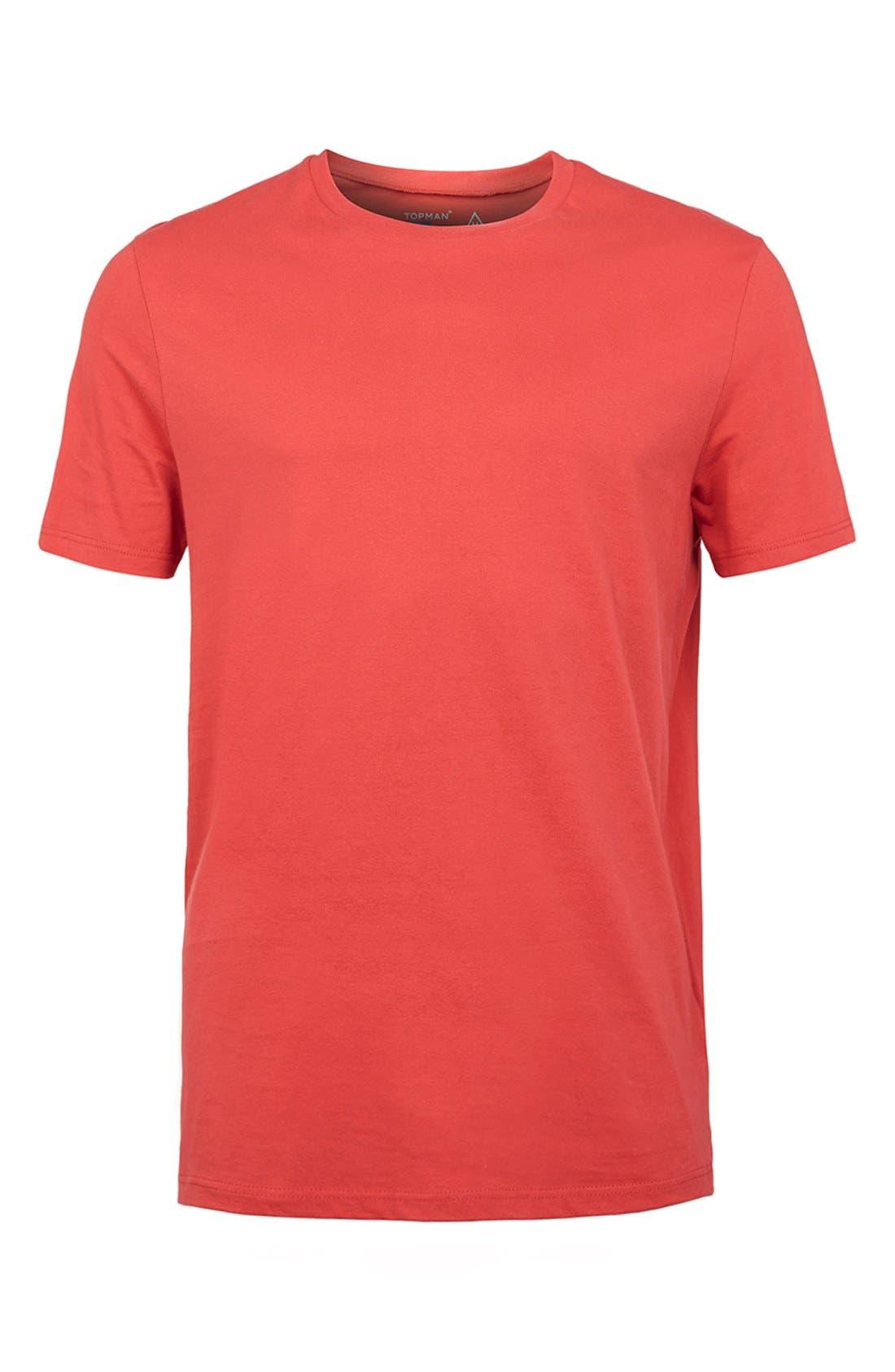 Slim Fit Crewneck T-Shirt,                             Alternate thumbnail 420, color,