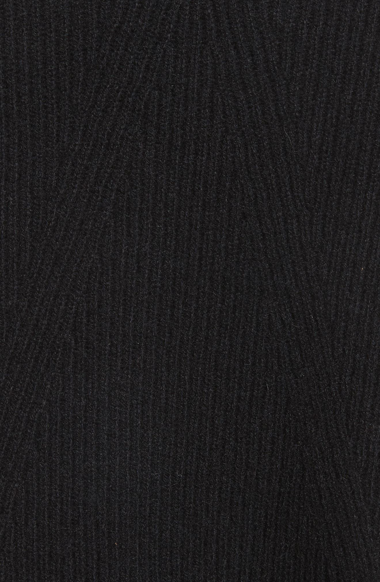 Ace Cashmere Crop Sweater,                             Alternate thumbnail 5, color,                             001