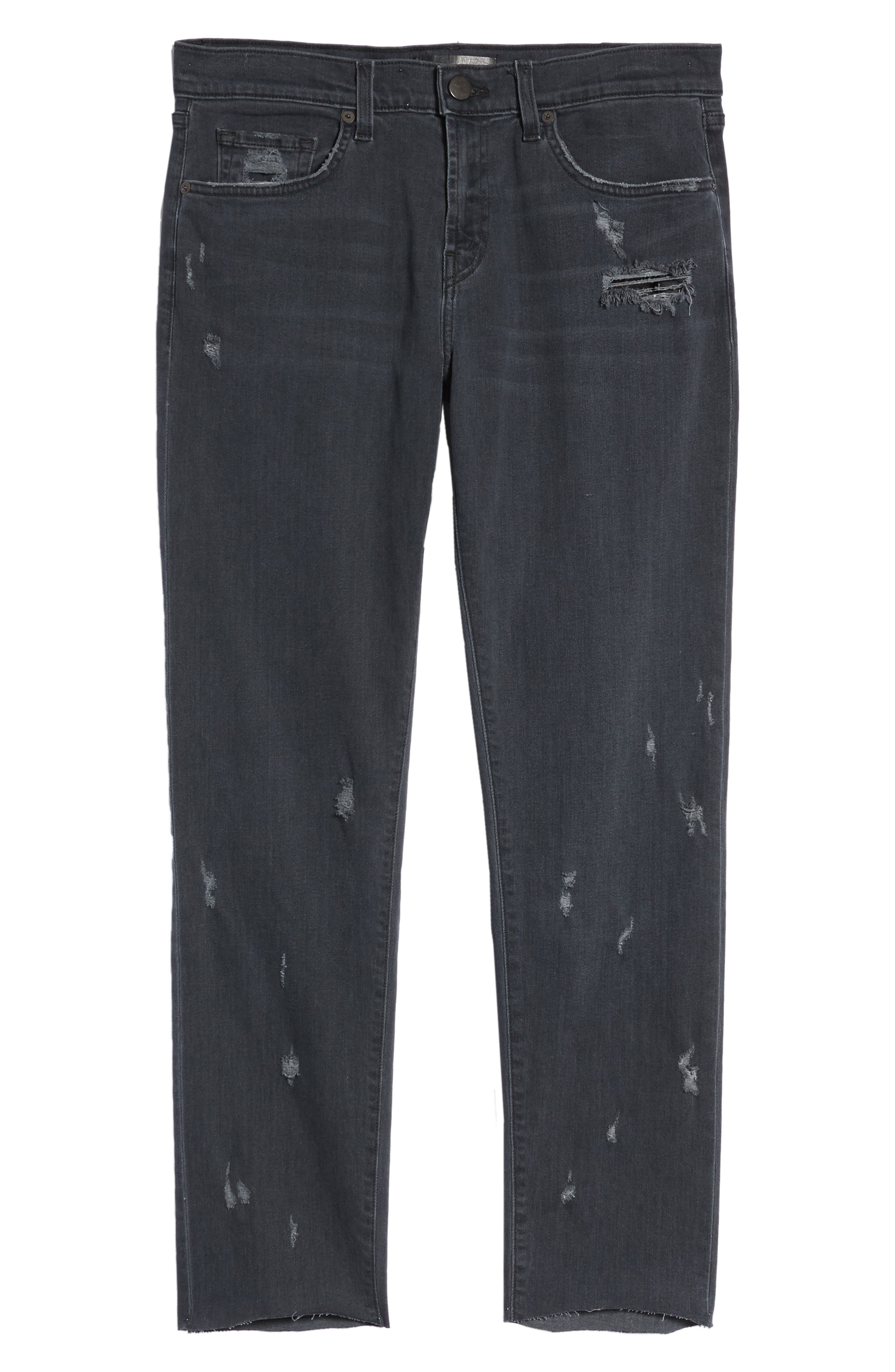 Tyler Slim Fit Jeans,                             Alternate thumbnail 6, color,                             001