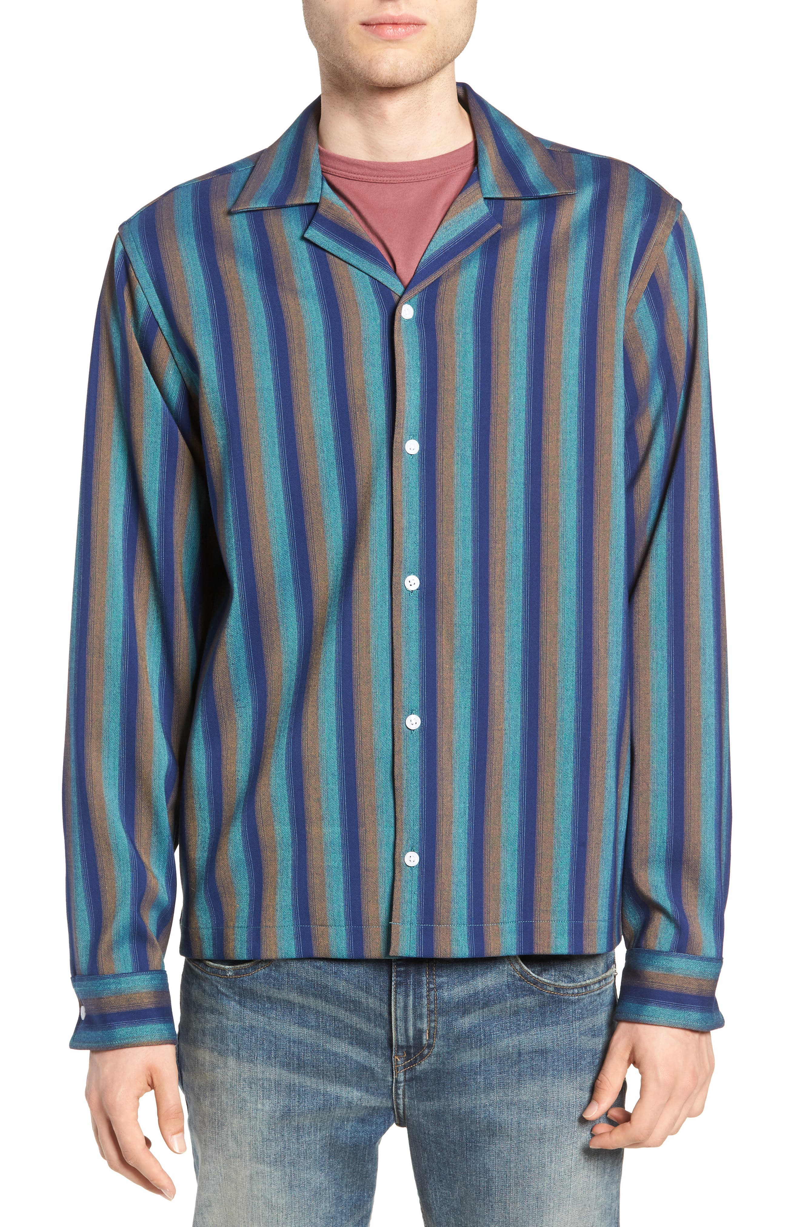Marco Frequency Long Sleeve Woven Shirt,                             Alternate thumbnail 2, color,                             334