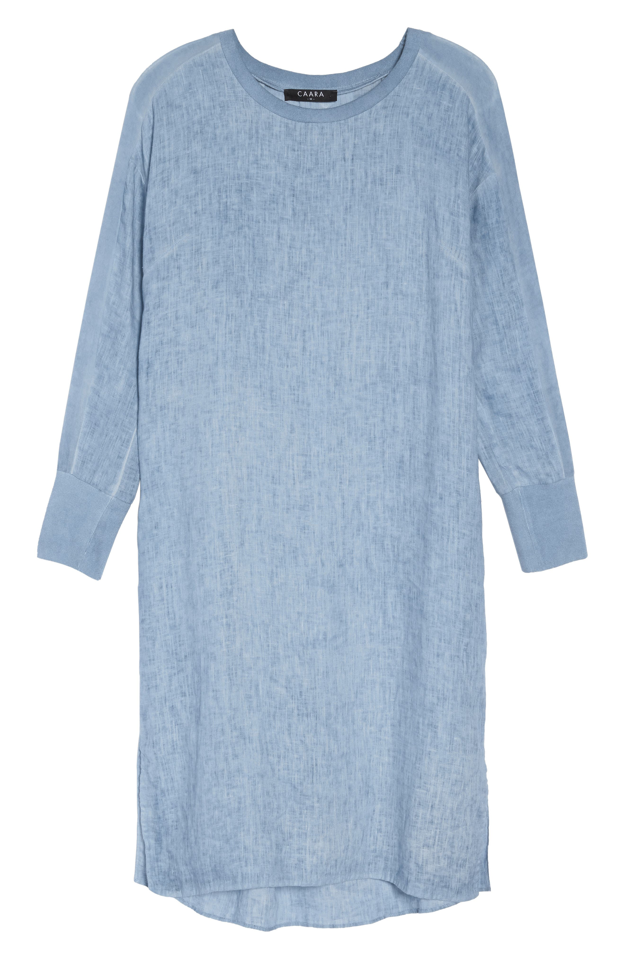 Rata Linen Shift Dress,                             Alternate thumbnail 8, color,                             400