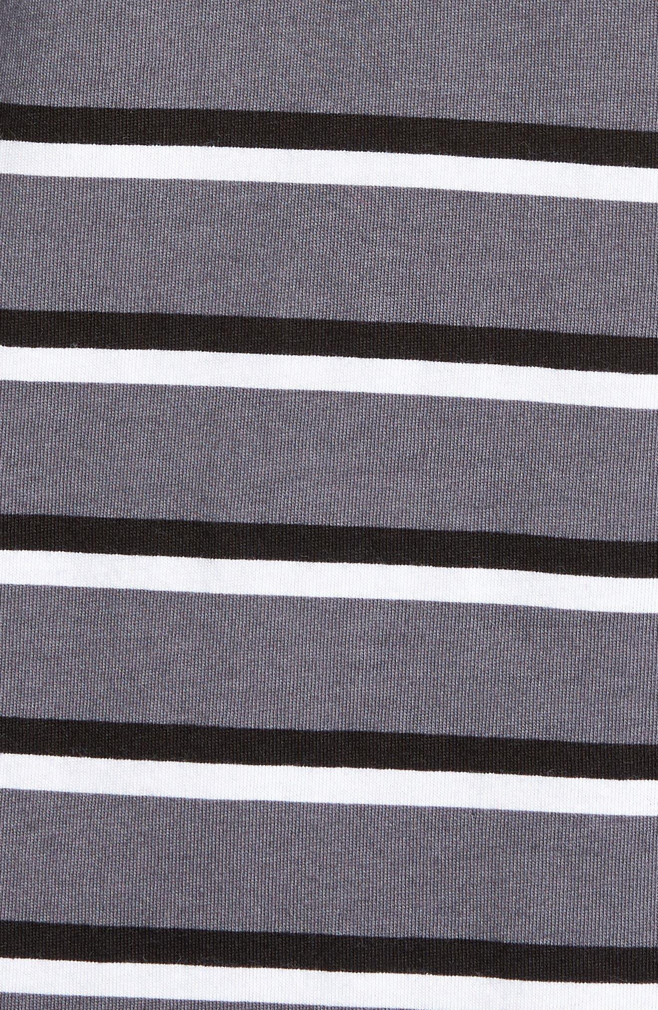 Just Do It Stripe T-Shirt,                             Alternate thumbnail 5, color,                             WHITE/ GUN SMOKE