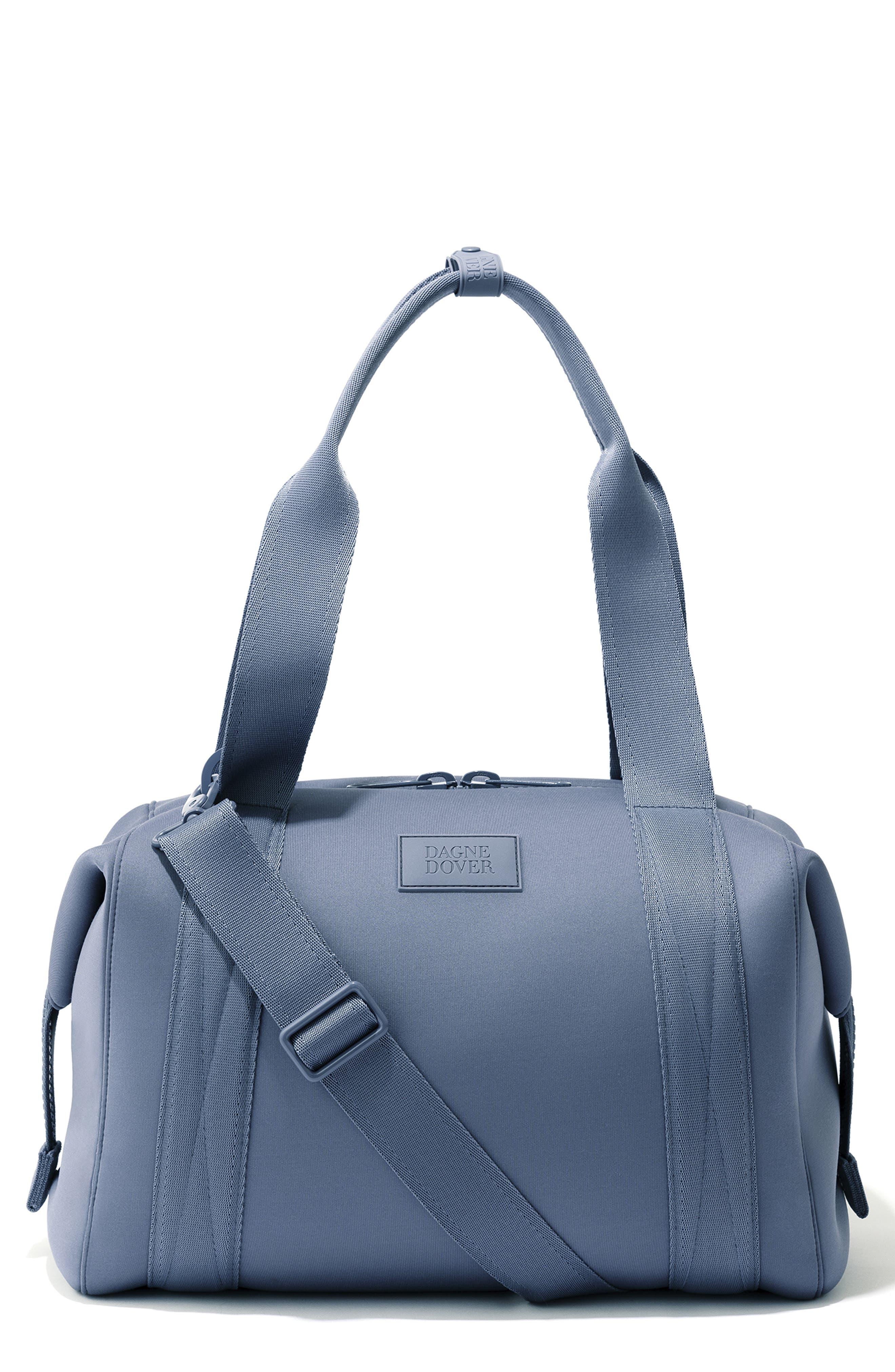 DAGNE DOVER 365 Medium Landon Neoprene Carryall Duffel Bag - Blue in Ash Blue