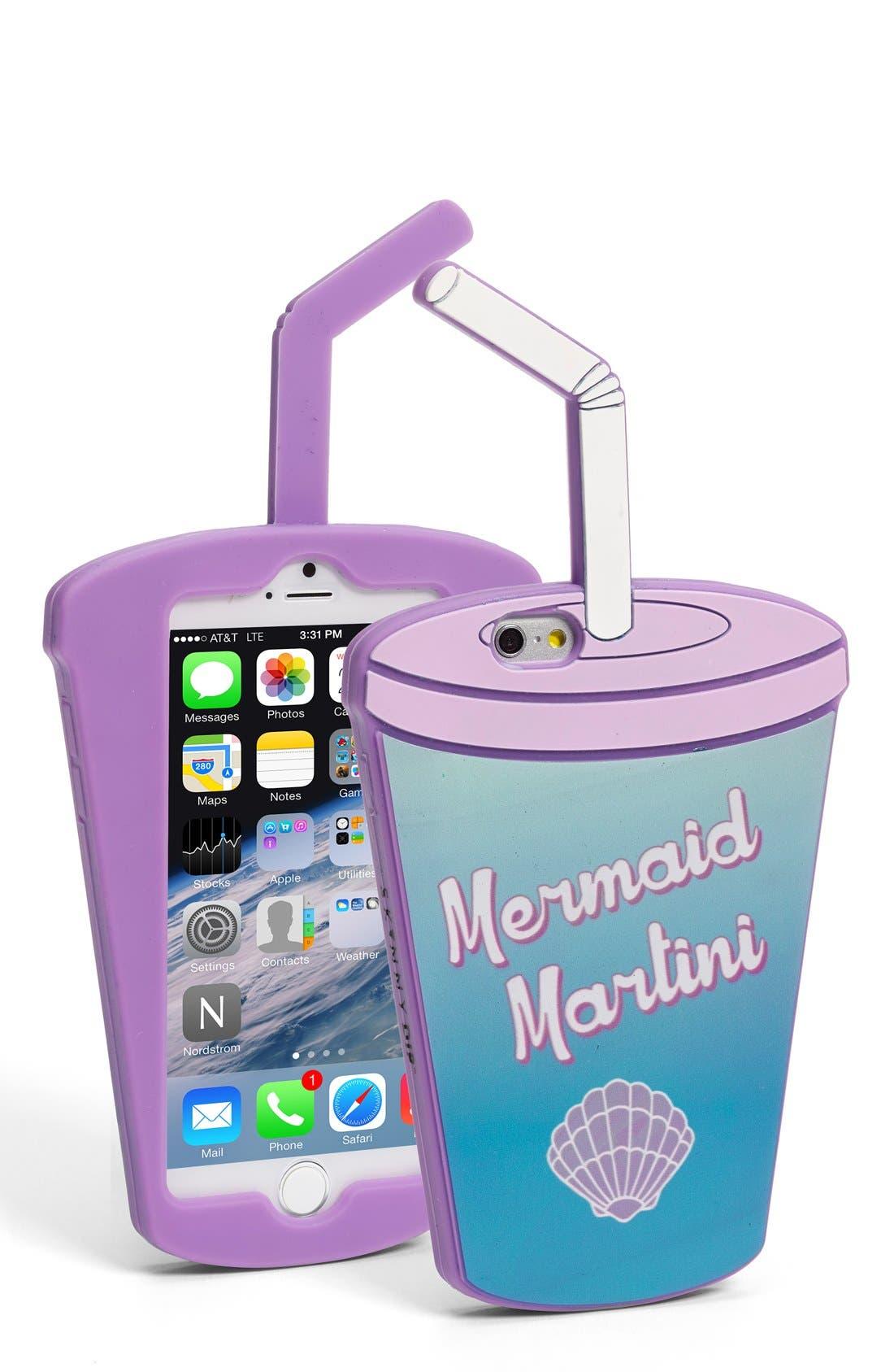 'Mermaid Martini' iPhone 6 & 6s Case,                             Main thumbnail 1, color,                             400