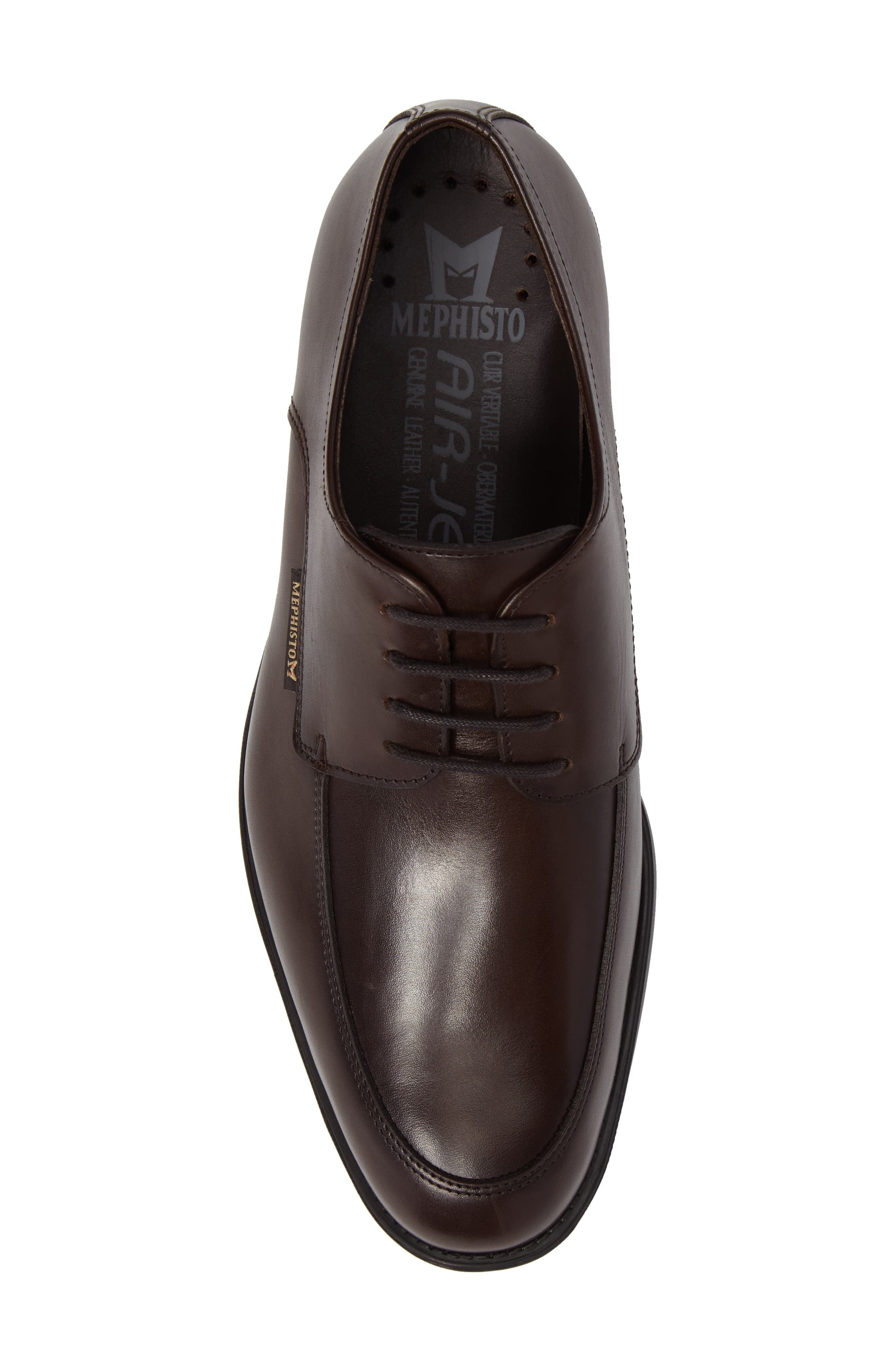 Carlo Moc Toe Derby,                             Alternate thumbnail 5, color,                             DARK BROWN LEATHER
