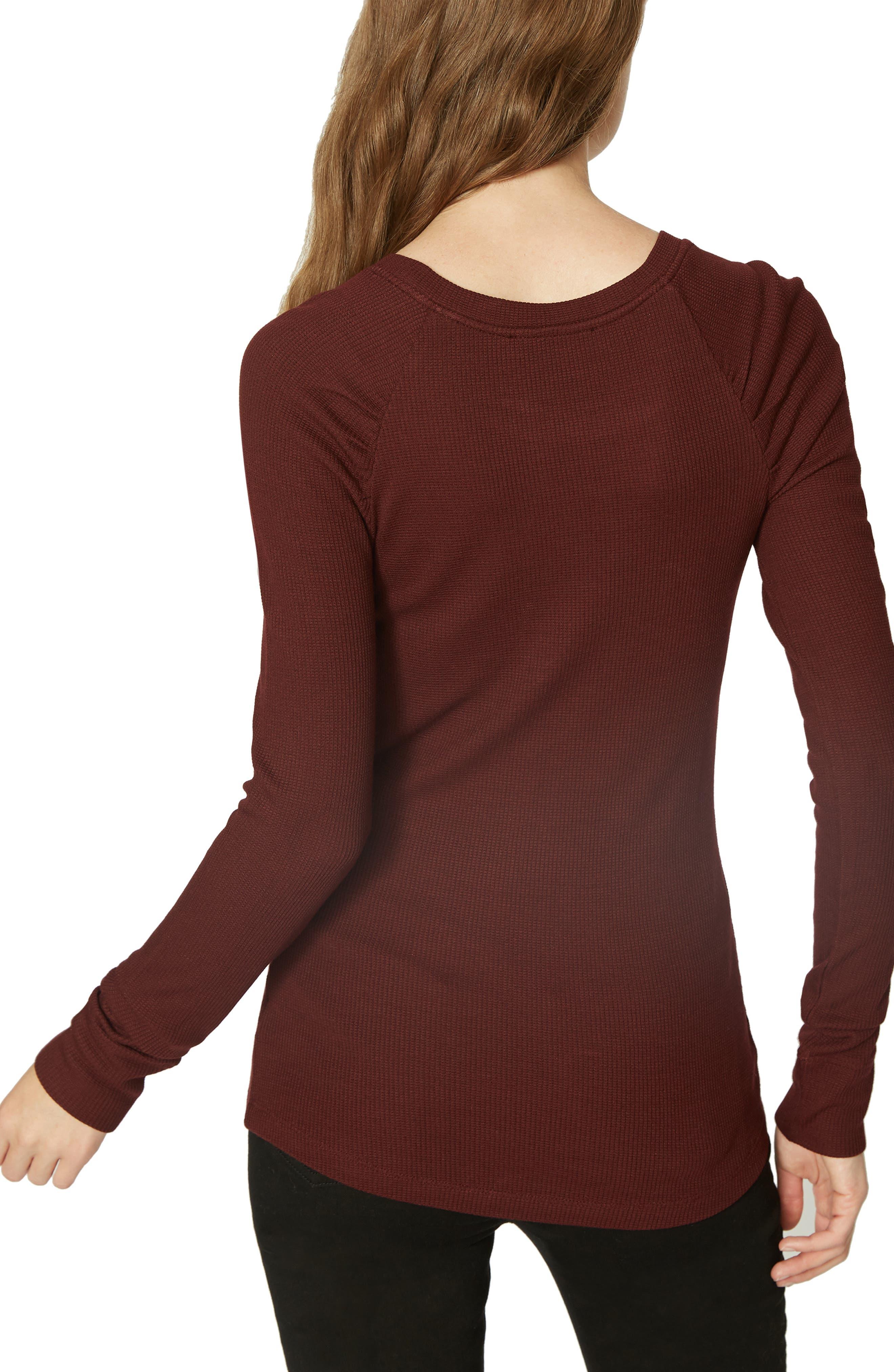 Kenzie Thermal Pullover,                             Alternate thumbnail 2, color,                             SCARLET