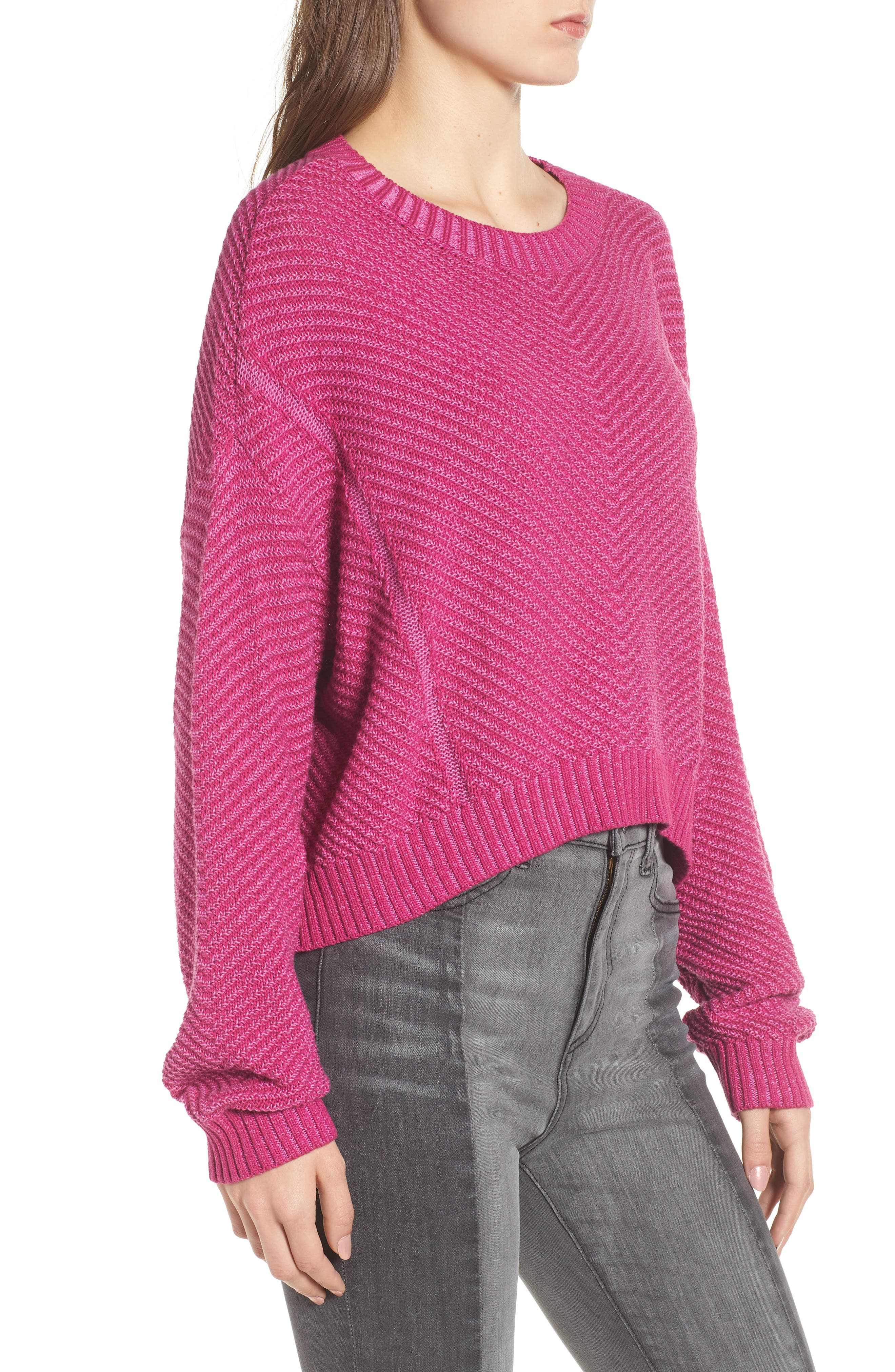 Plaited Drop Shoulder Sweater,                             Alternate thumbnail 6, color,