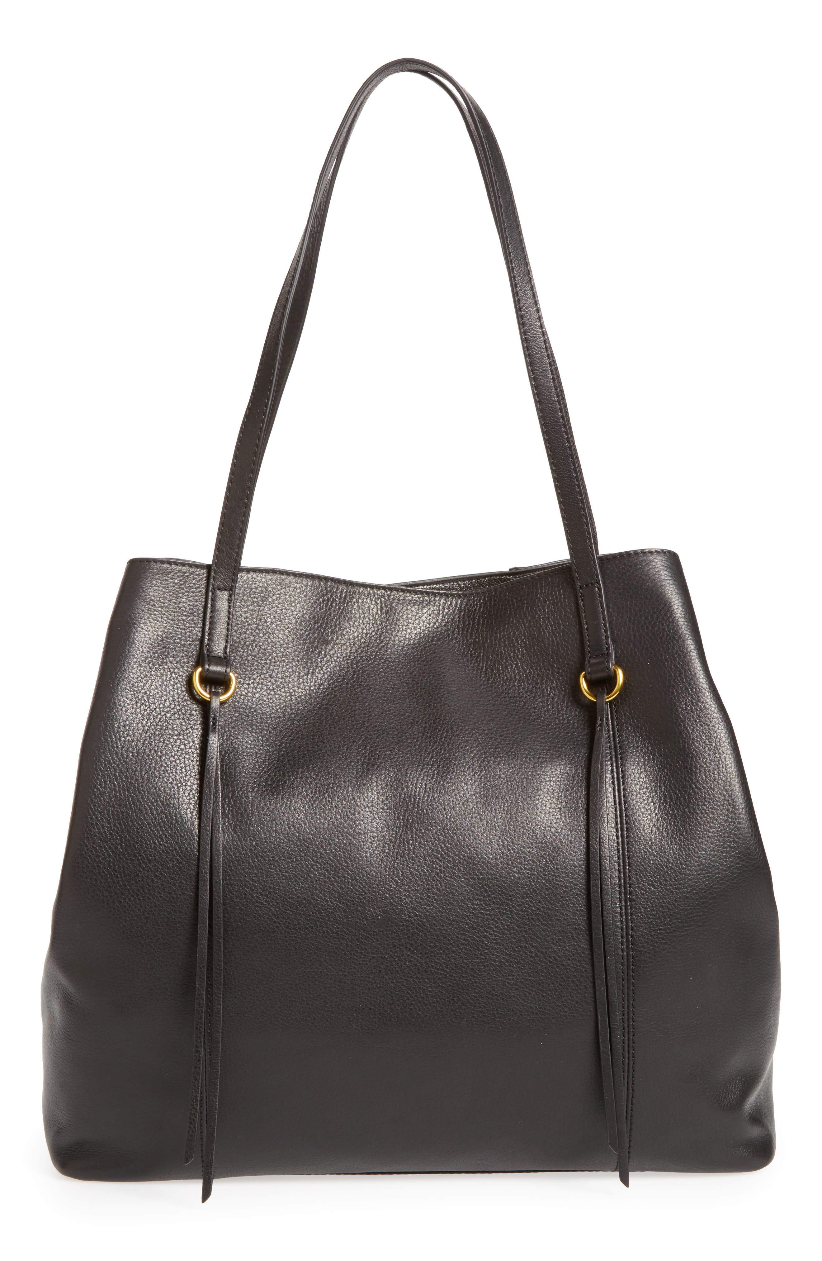 Kingston Leather Tote,                         Main,                         color, 001