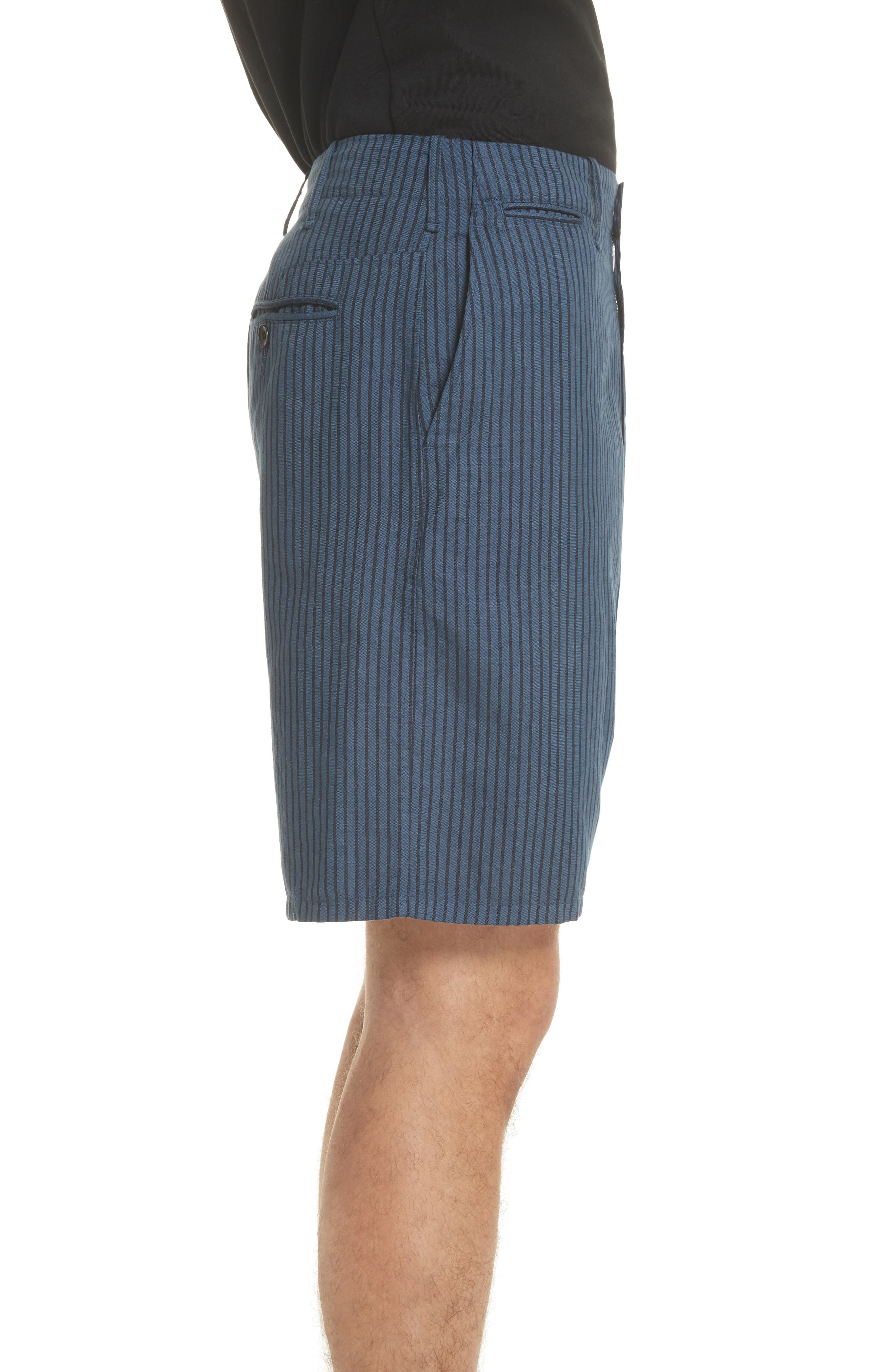 rag + bone Stripe Shorts,                             Alternate thumbnail 3, color,                             416