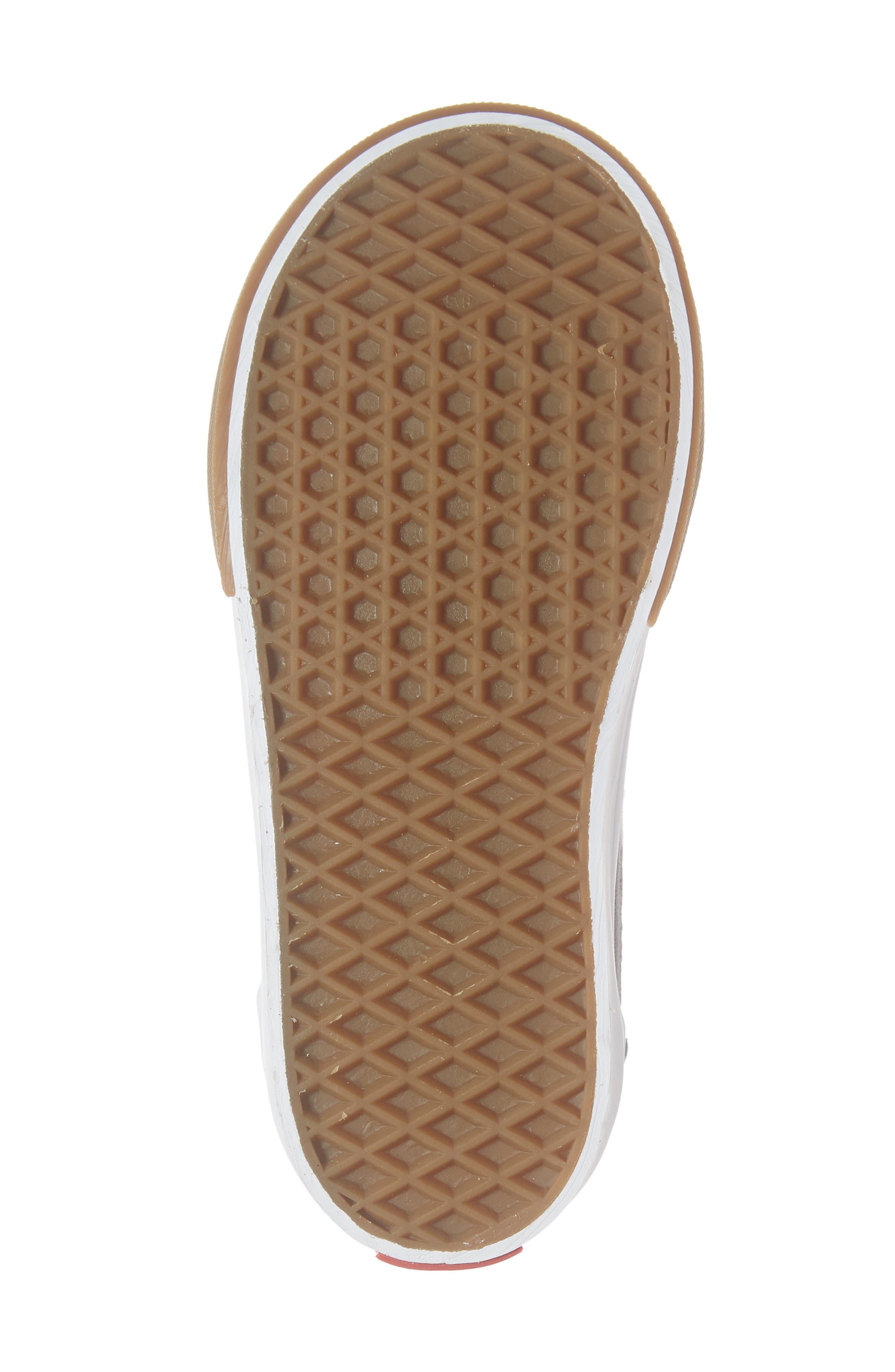 SK8-Hi Zip Sneaker,                             Alternate thumbnail 6, color,                             WILD ASTER/ TRUE WHITE