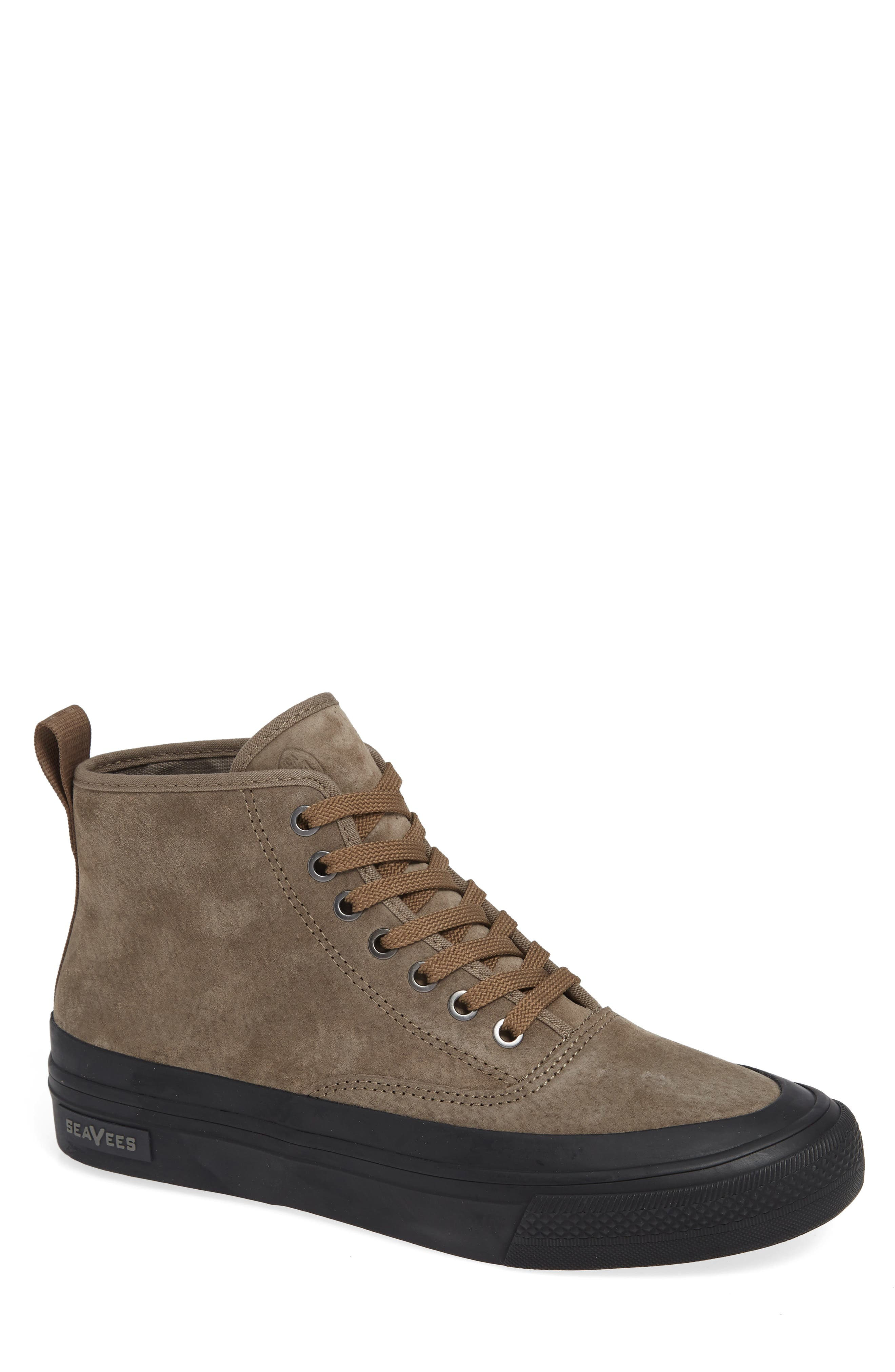 Mariners Waterproof Sneaker,                         Main,                         color, BROWN SUEDE