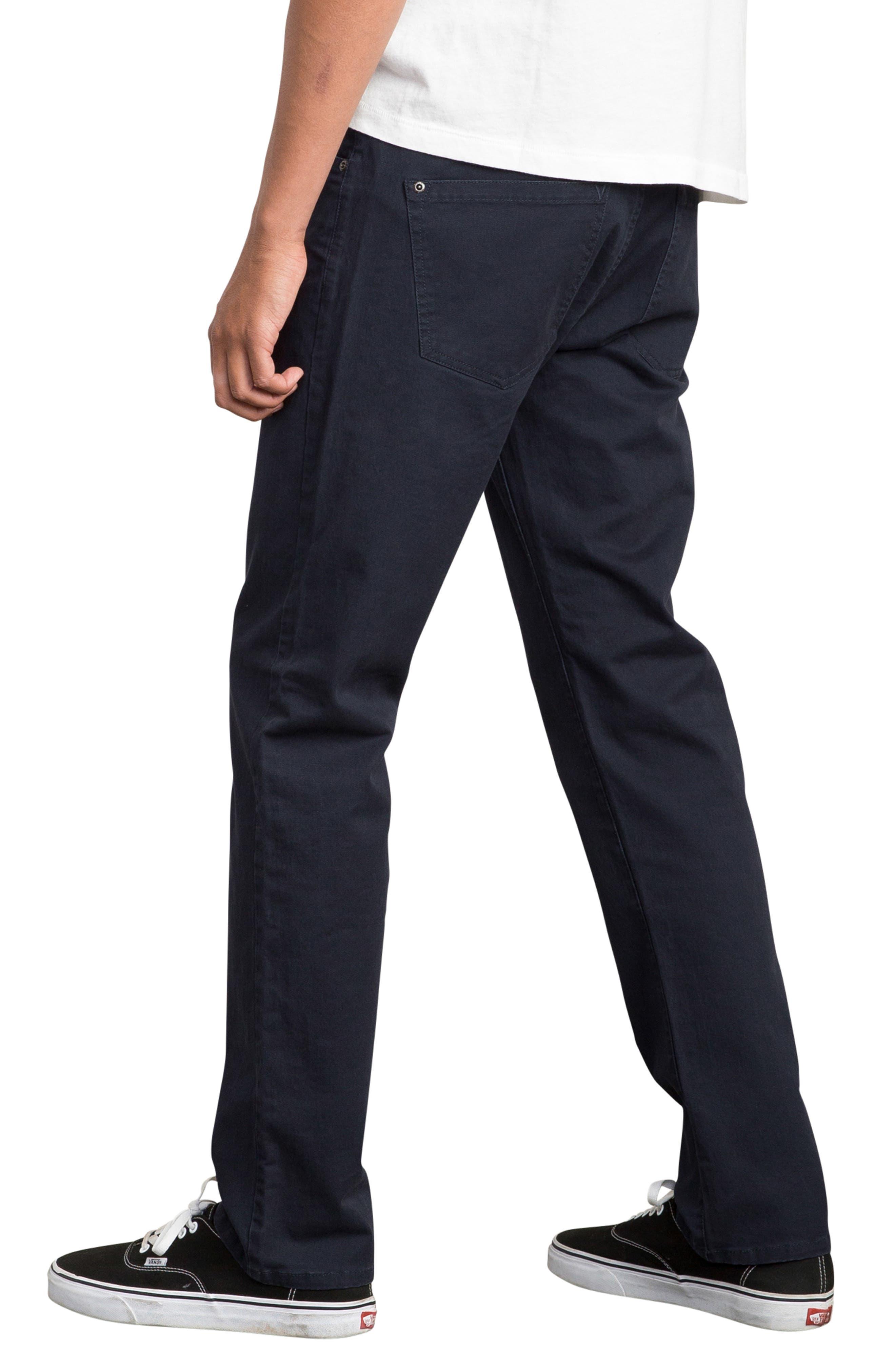 'Daggers' Slim Fit Twill Pants,                             Alternate thumbnail 3, color,                             402