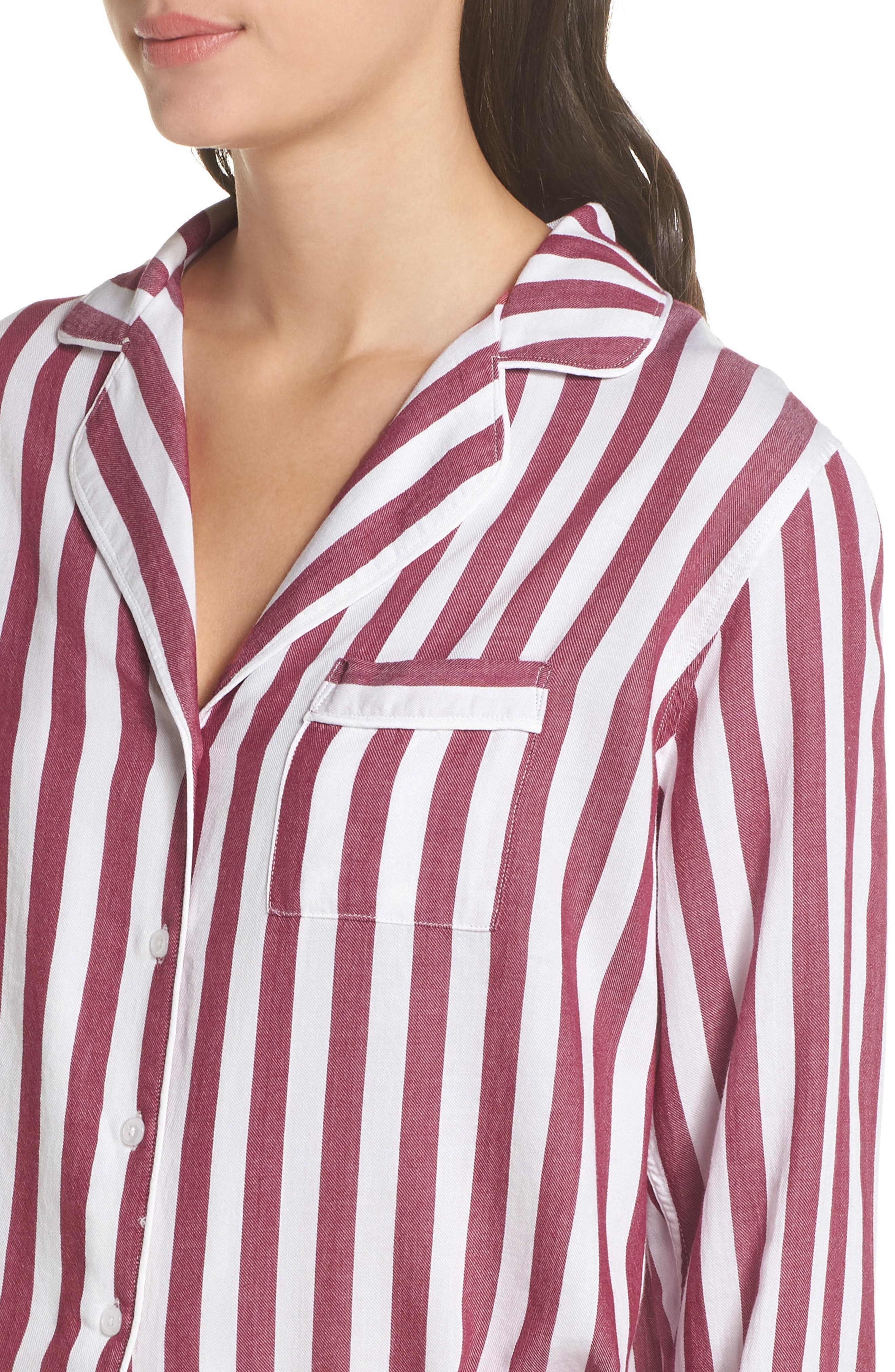 Stripe Short Pajamas,                             Alternate thumbnail 4, color,                             TOLEDO STRIPE