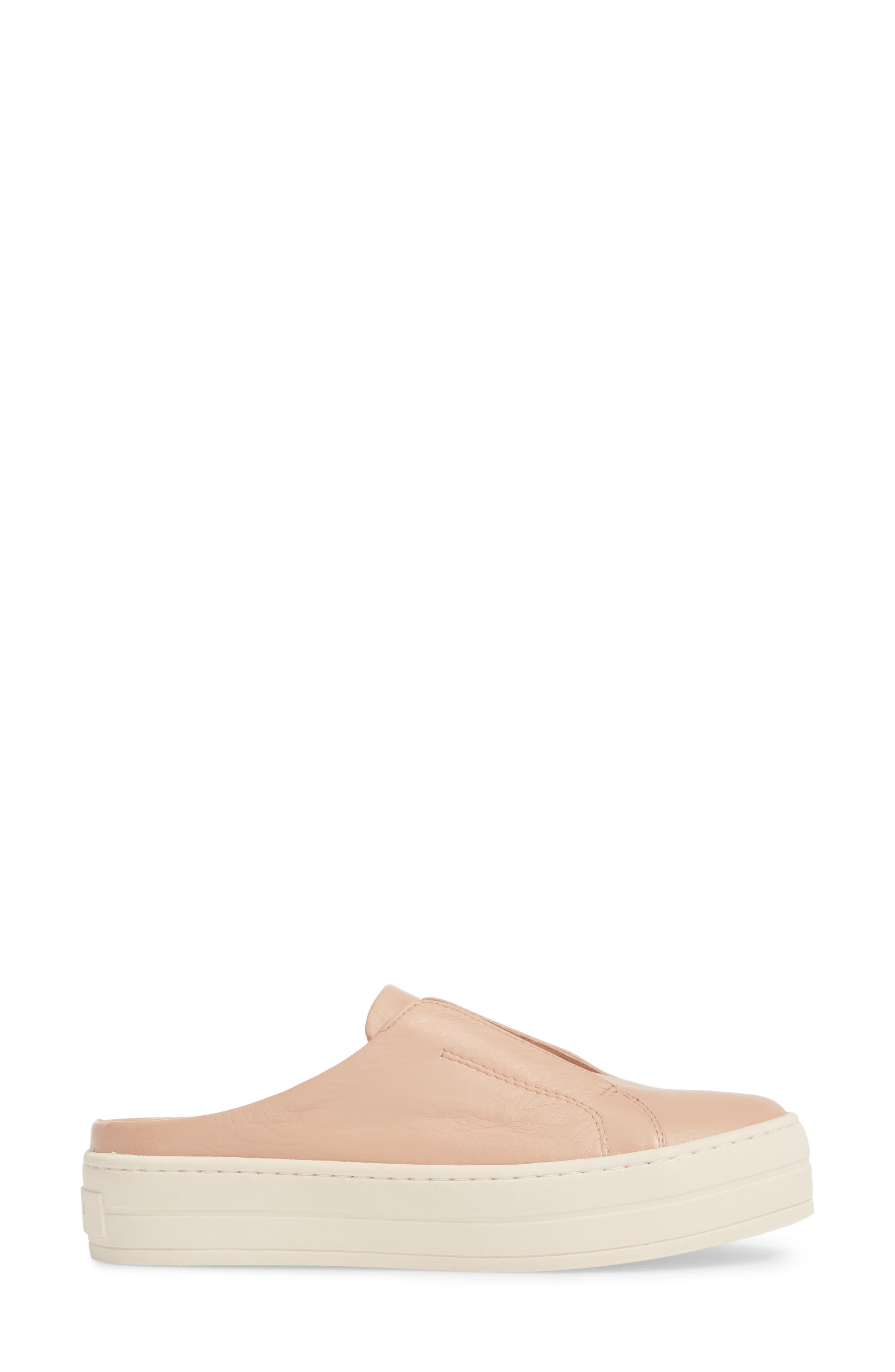 Hara Sneaker Mule,                             Alternate thumbnail 3, color,                             BLUSH SUEDE