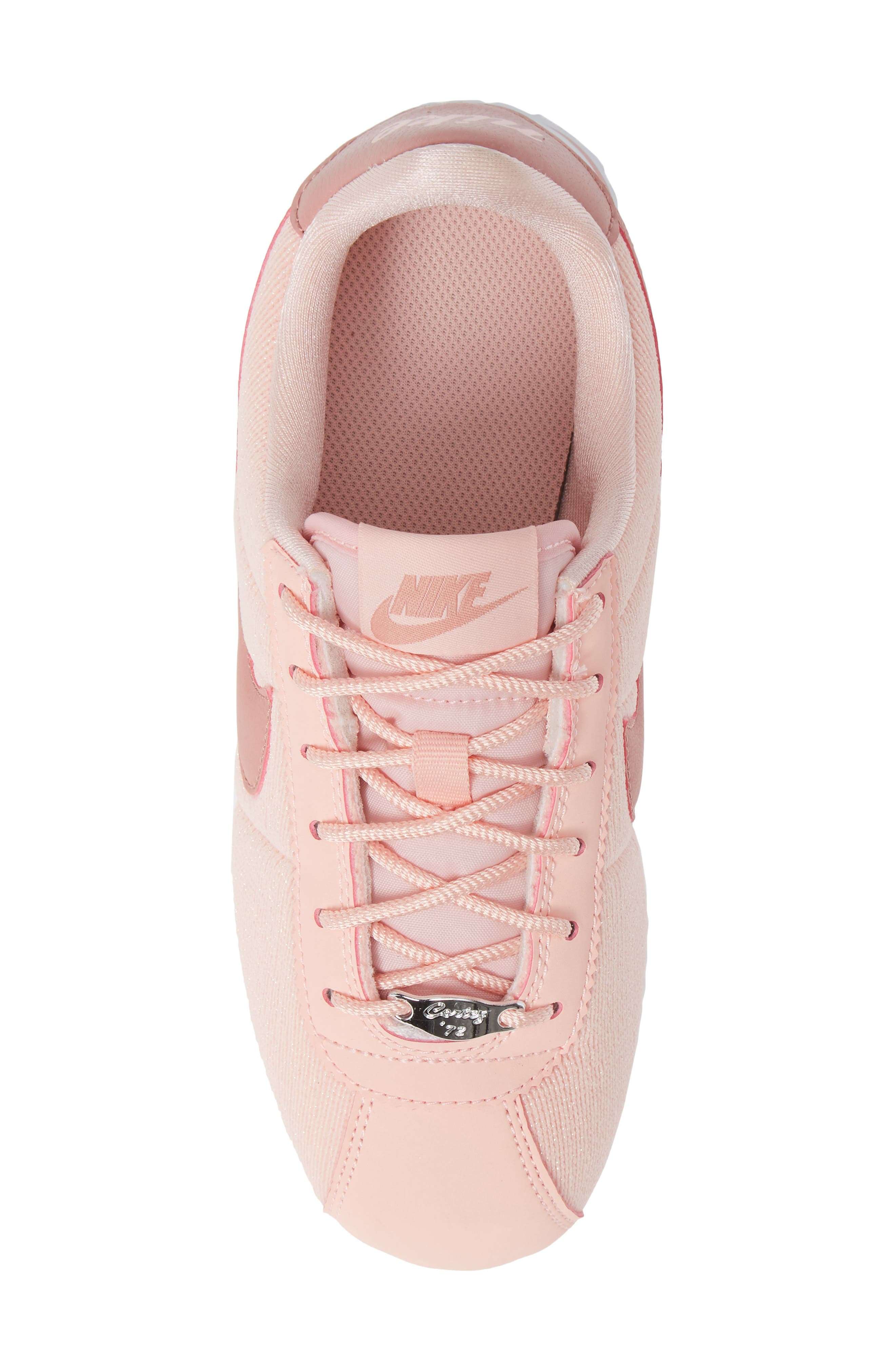 Cortez Basic TXT SE Sneaker,                             Alternate thumbnail 5, color,                             STORM PINK/ RUST PINK/ WHITE