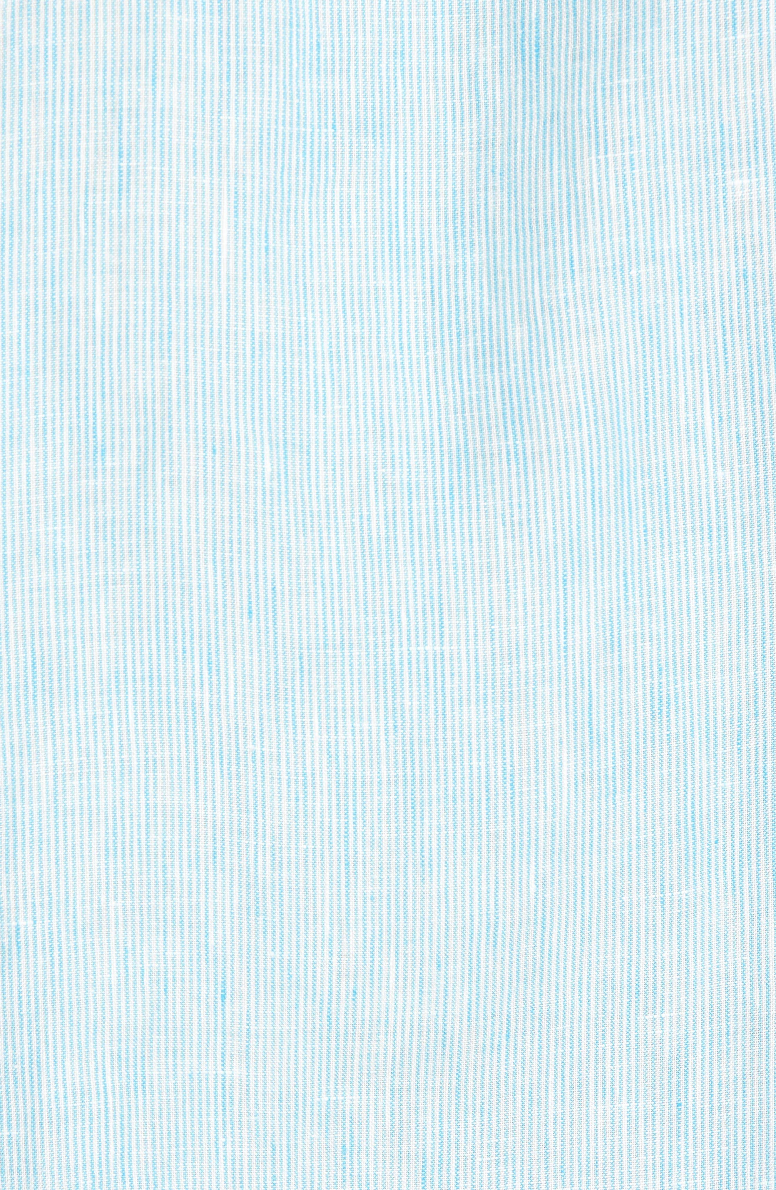 Willington Stripe Slim Fit Linen Sport Shirt,                             Alternate thumbnail 5, color,                             400