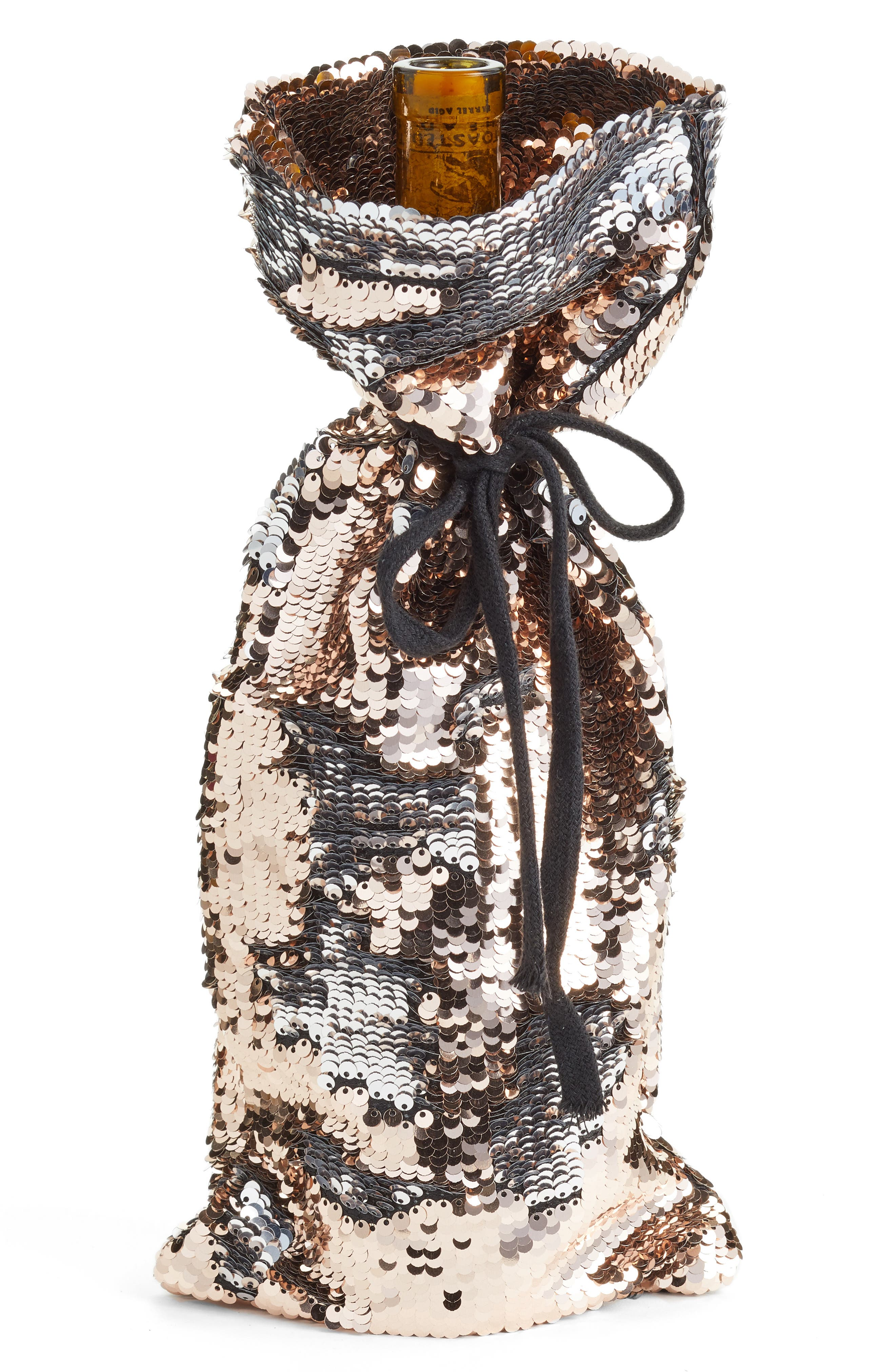 Reverse Sequin Wine Bag,                         Main,                         color, 220