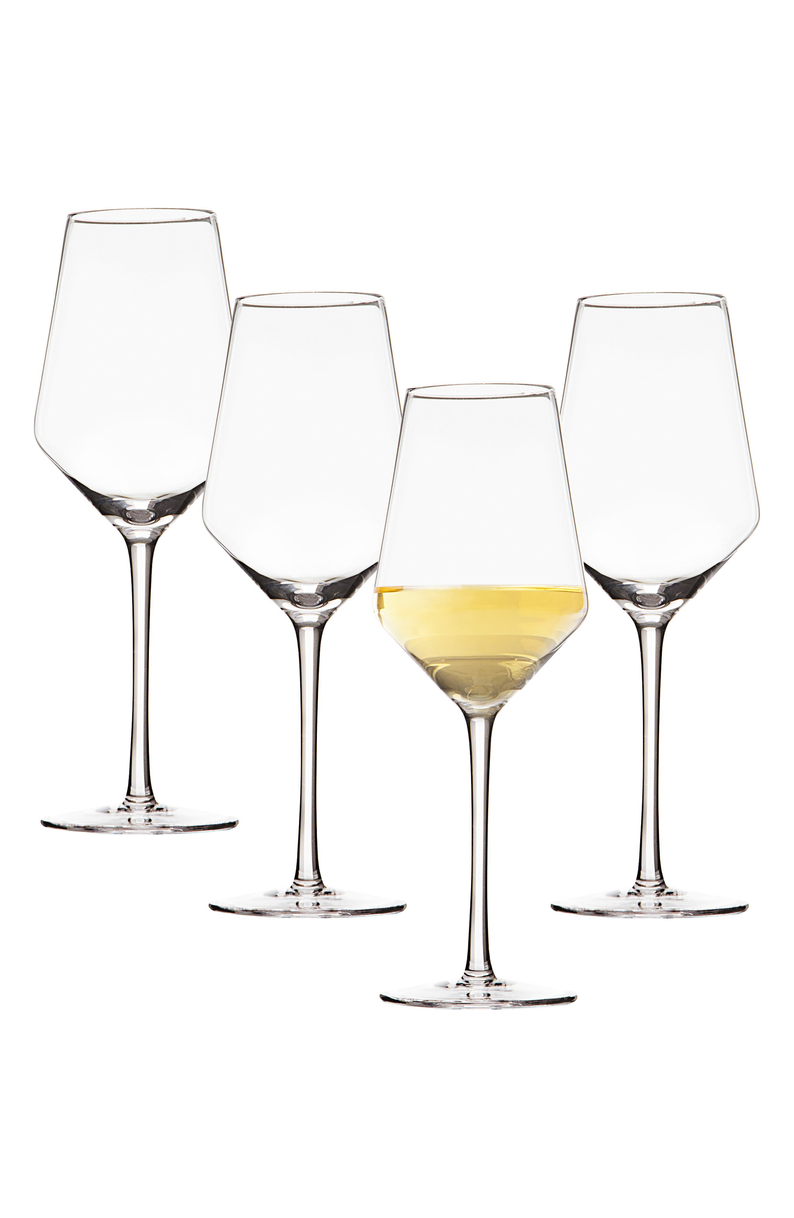 Estate Collection Set of 4 Monogram White Wine Glasses,                             Main thumbnail 1, color,                             100
