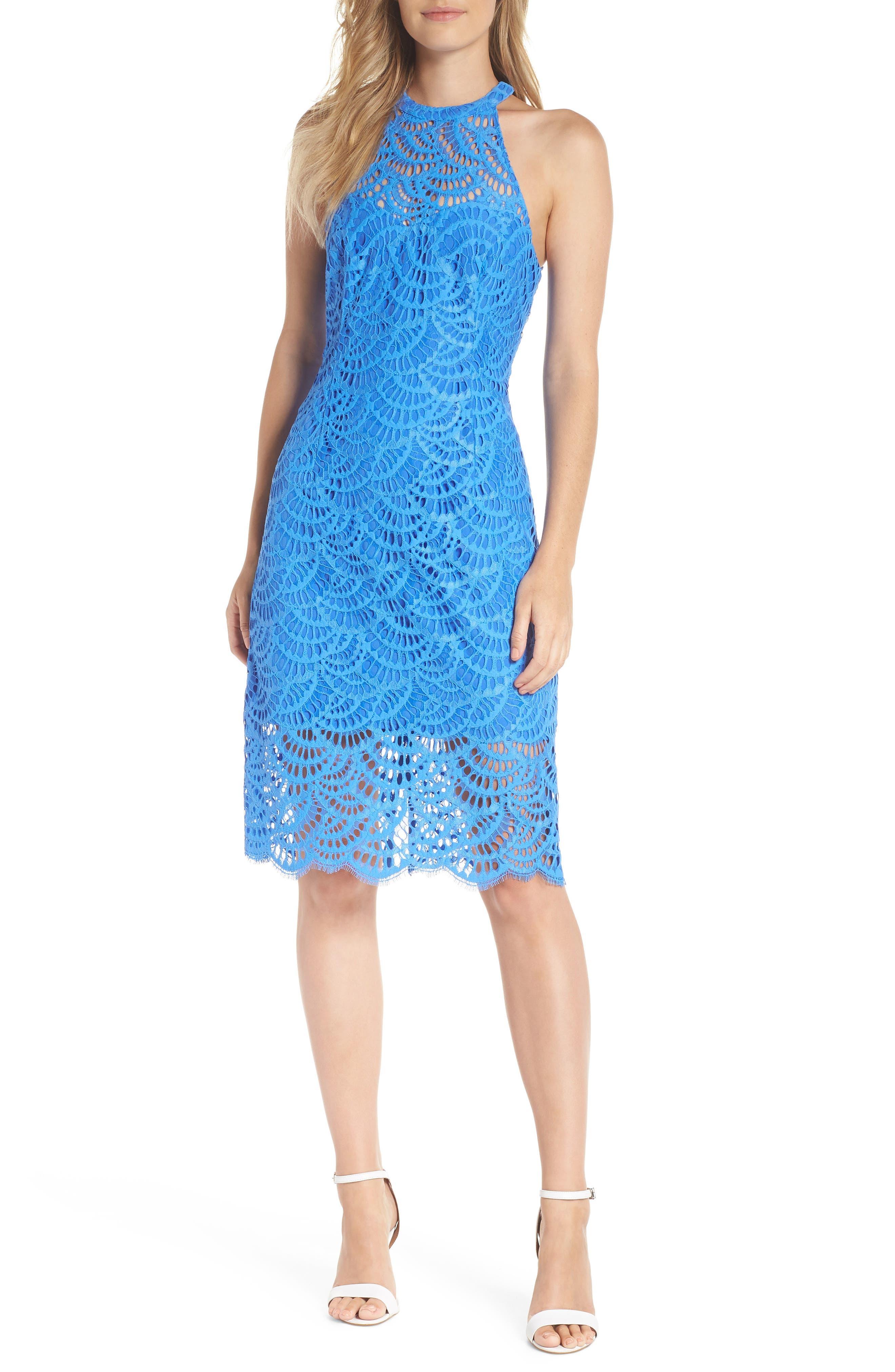 Lilly Pulitzer Kenna Lace Sheath Dress, Blue