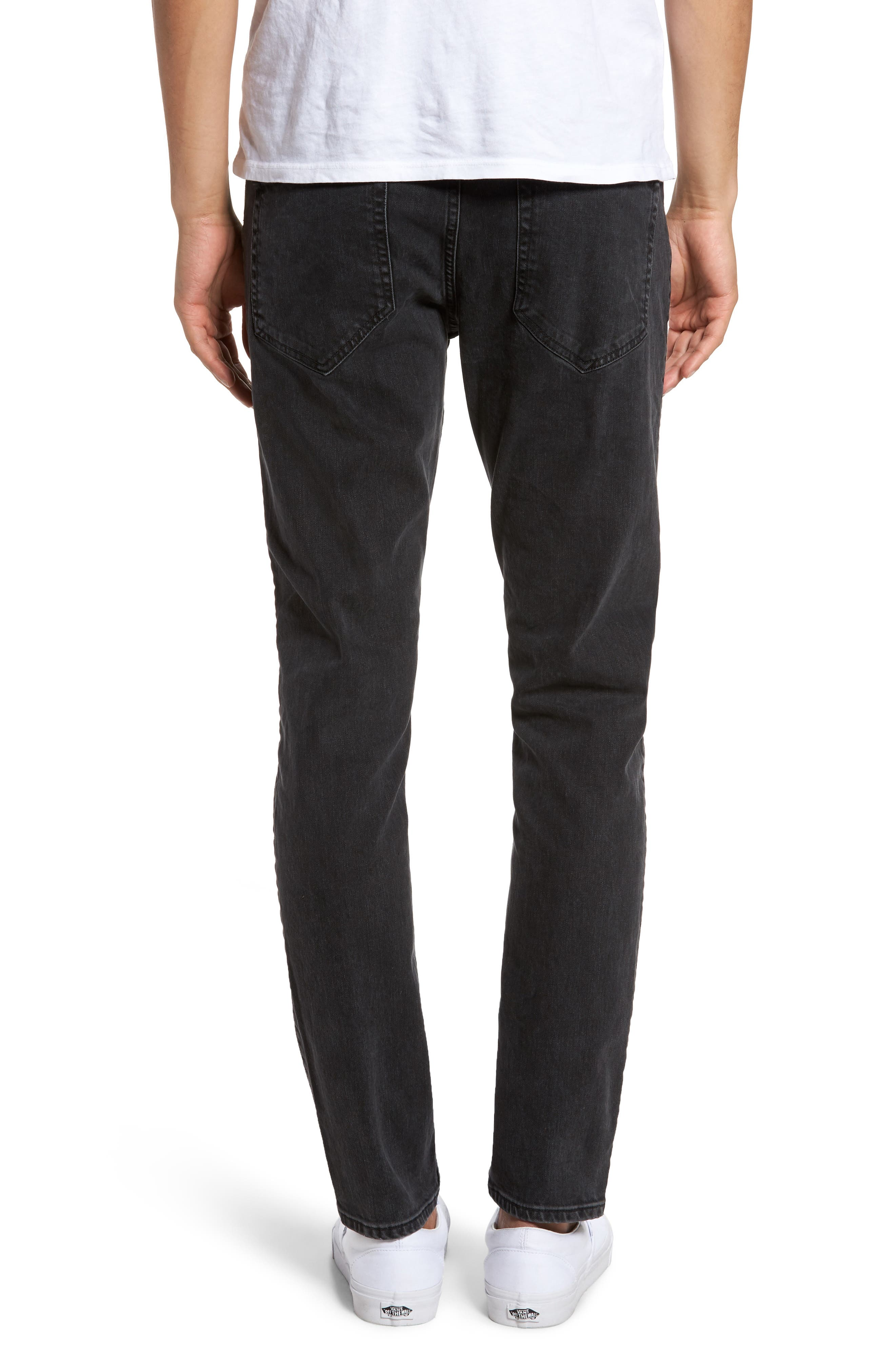 Clark Slim Straight Leg Jeans,                             Alternate thumbnail 2, color,                             001