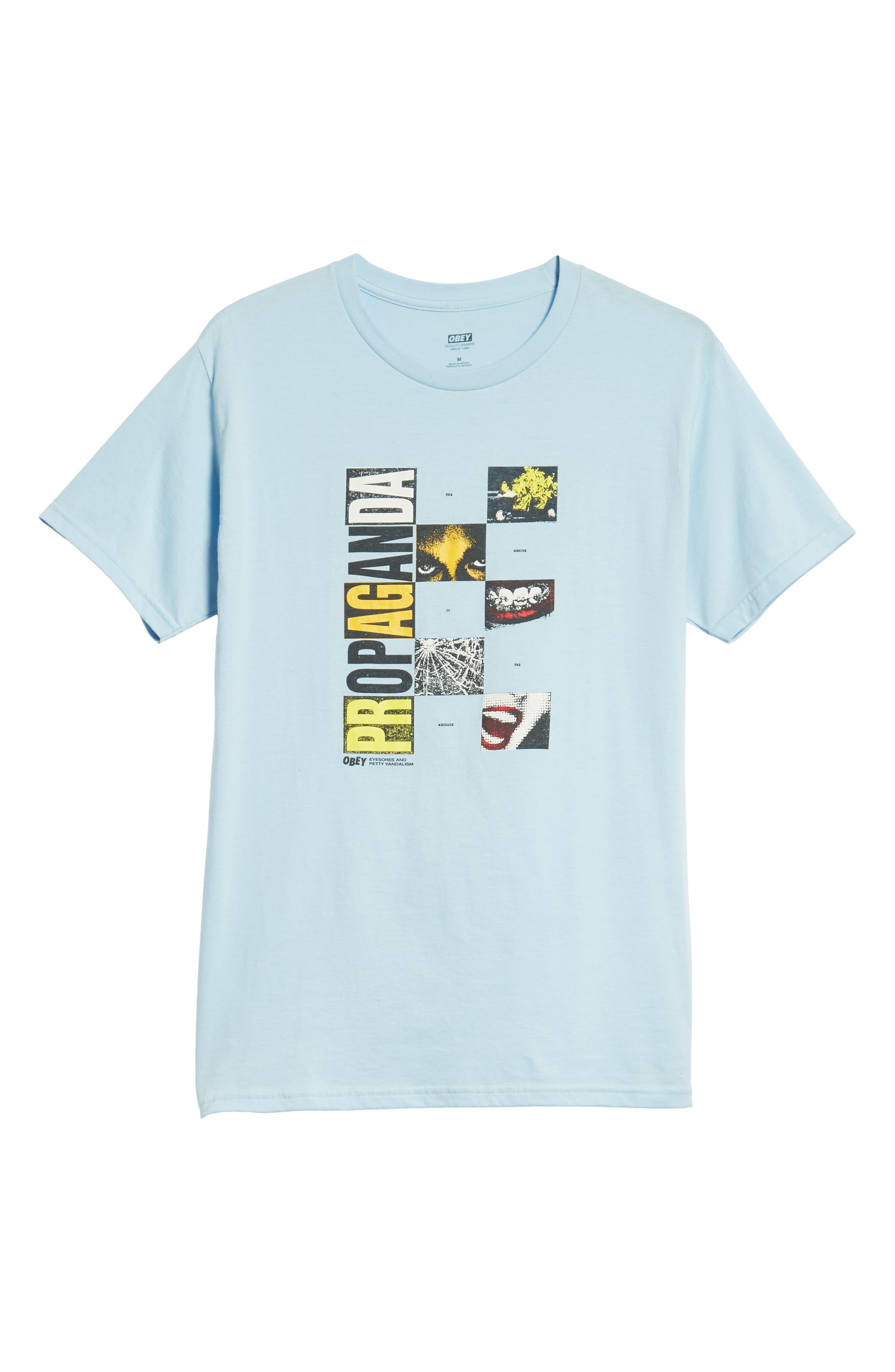Medium is the Message Premium T-Shirt,                             Alternate thumbnail 6, color,                             POWDER BLUE