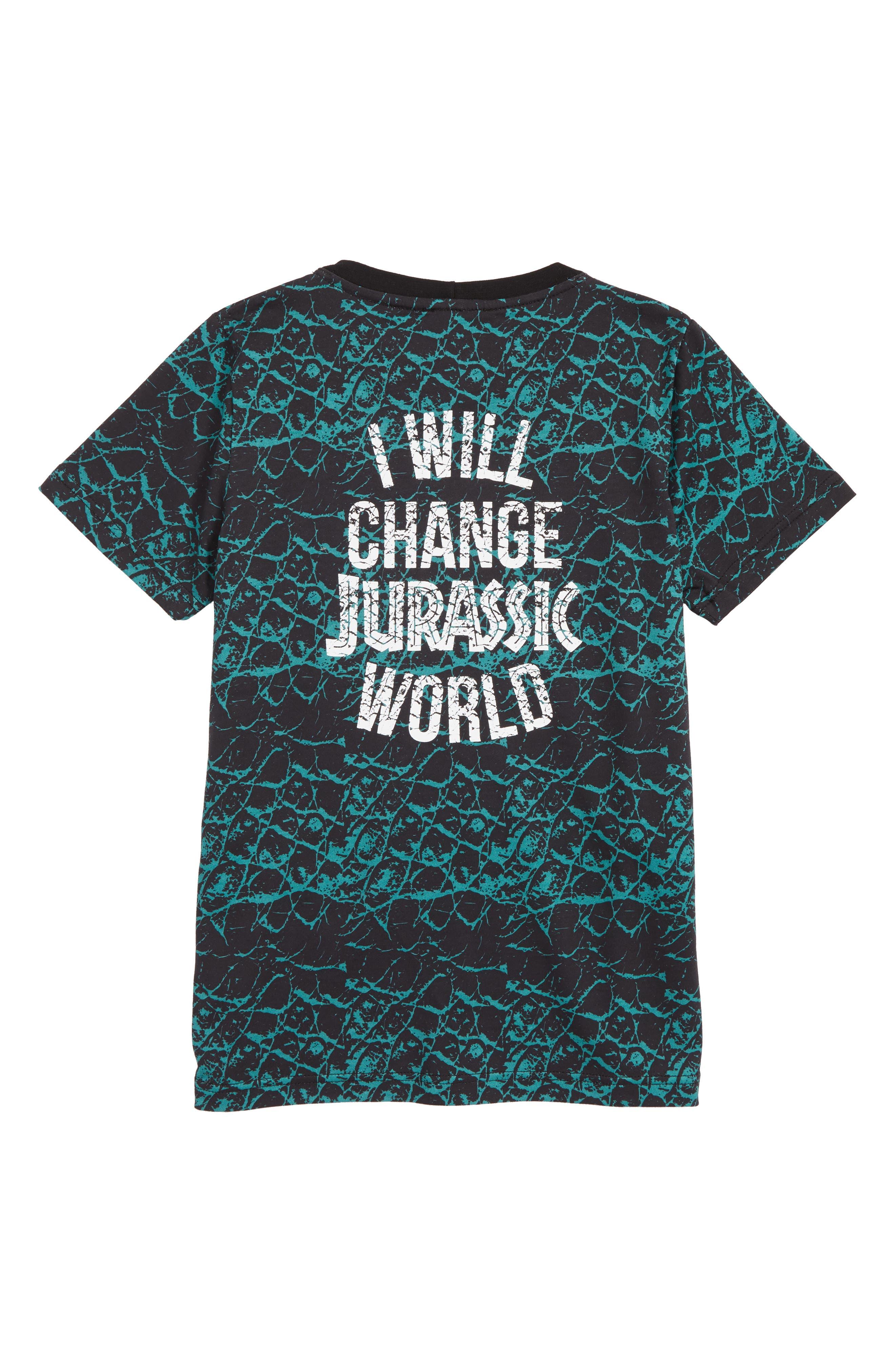 x Jurassic World Revolution Organic Cotton T-Shirt,                             Alternate thumbnail 2, color,                             001