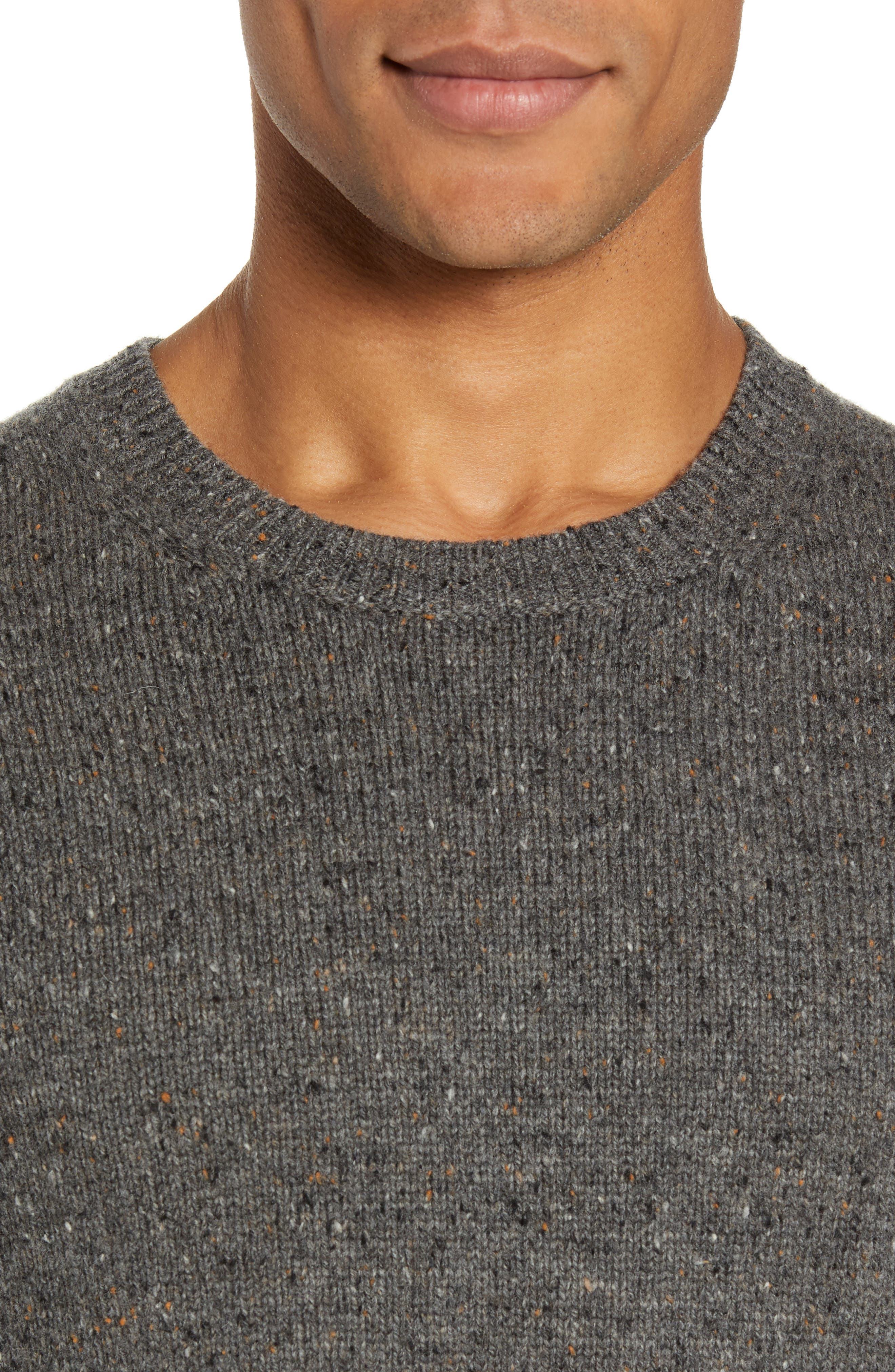 Jaxon Trim Fit Wool Sweater,                             Alternate thumbnail 4, color,                             GREY MULTI