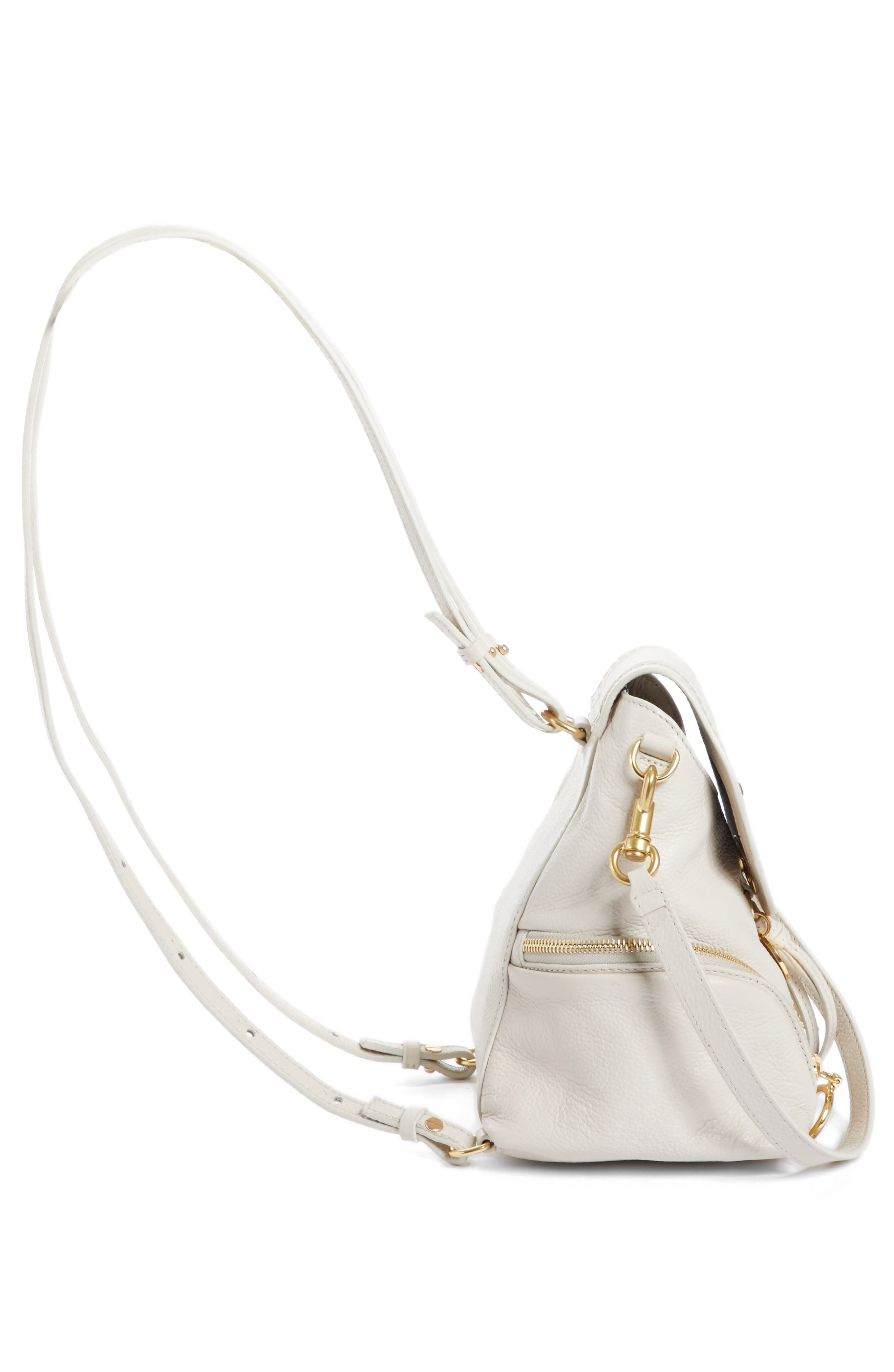 Small Olga Leather Backpack,                             Alternate thumbnail 15, color,