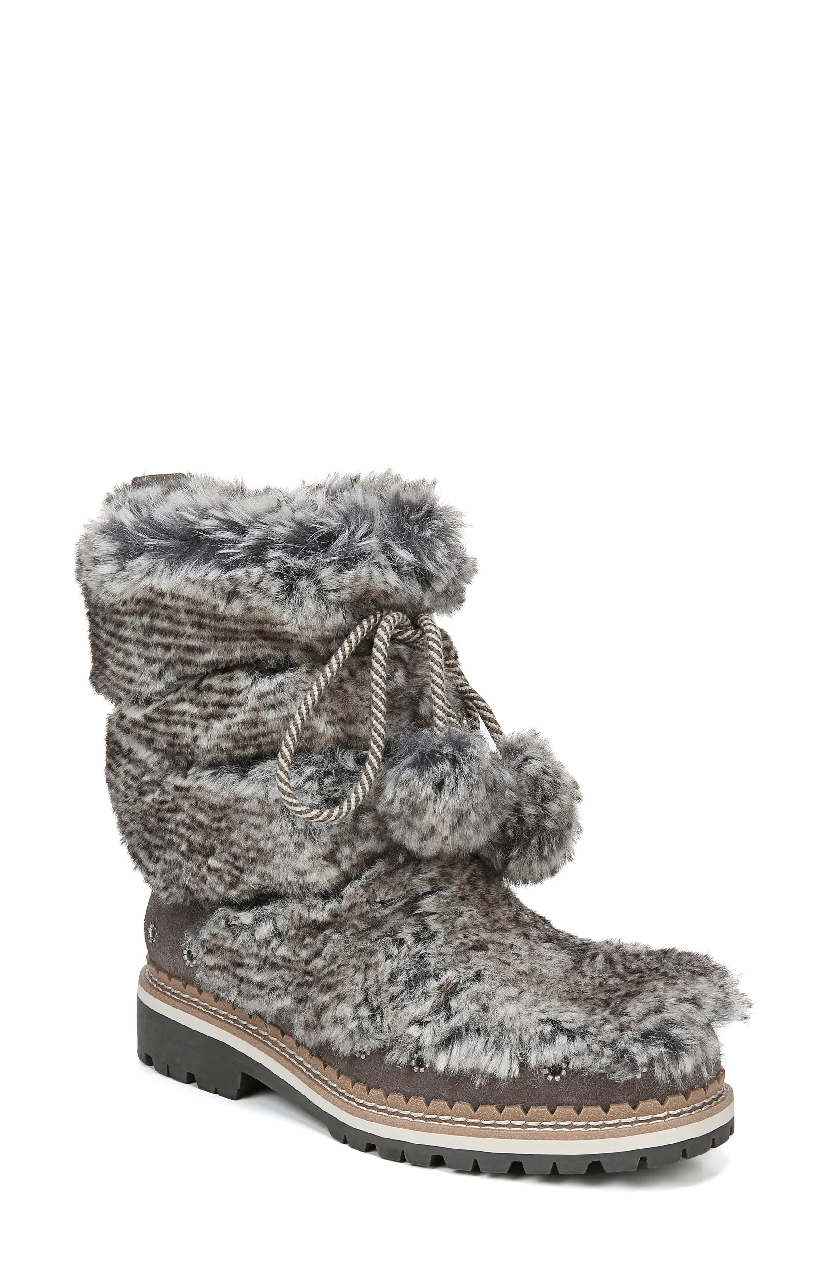 Sam Edelman Blanche Faux Fur Boot, Grey