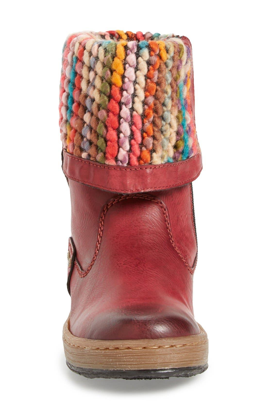 'Felicitas 98' Foldover Boot,                             Alternate thumbnail 4, color,                             930