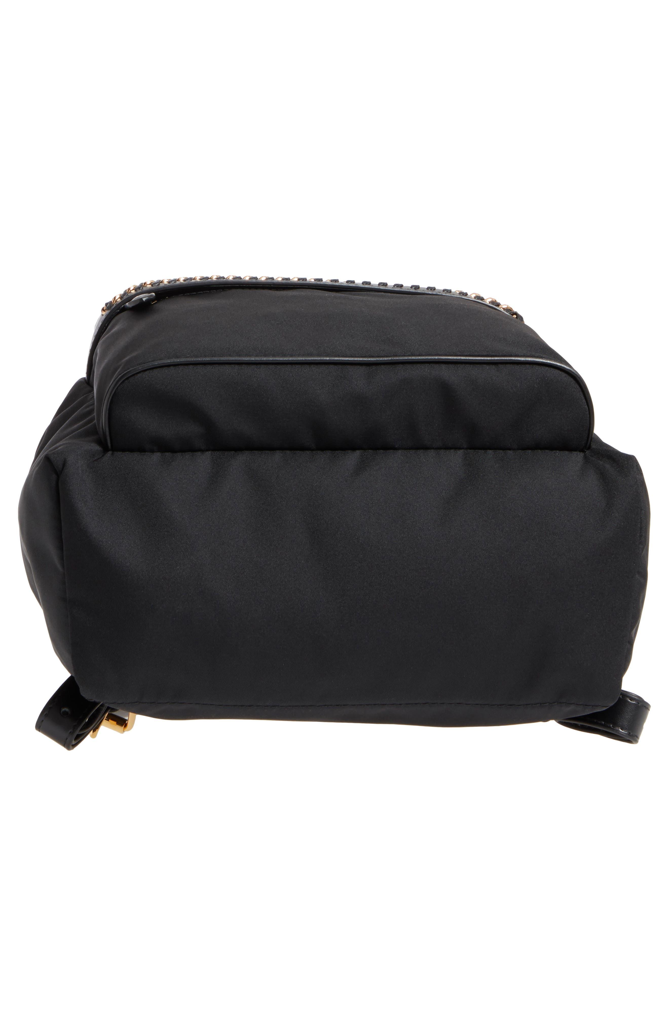 Falabella Nylon Backpack,                             Alternate thumbnail 6, color,                             BLACK