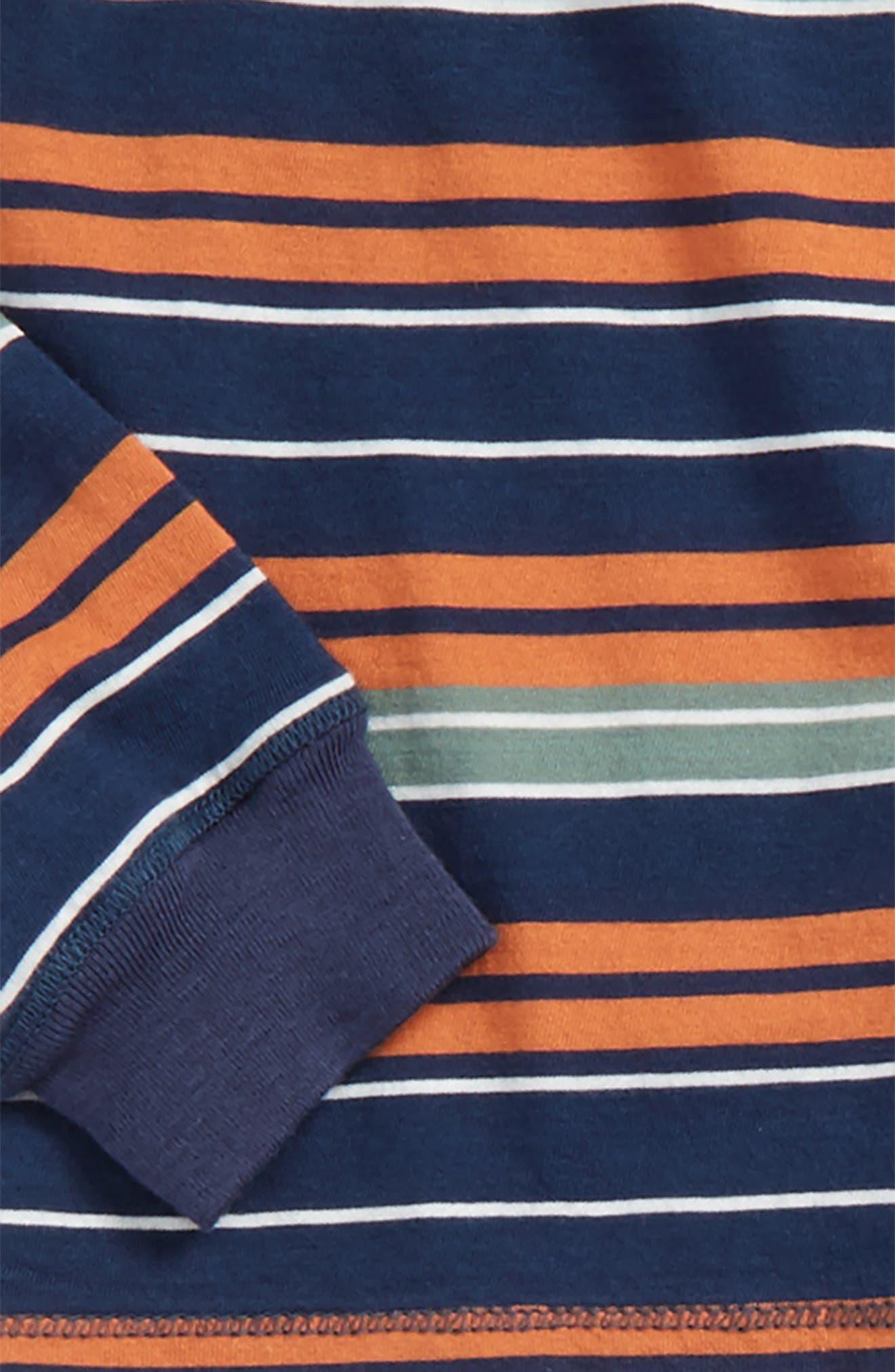 Stripe Henley Top & Sweatpants,                             Alternate thumbnail 2, color,                             400