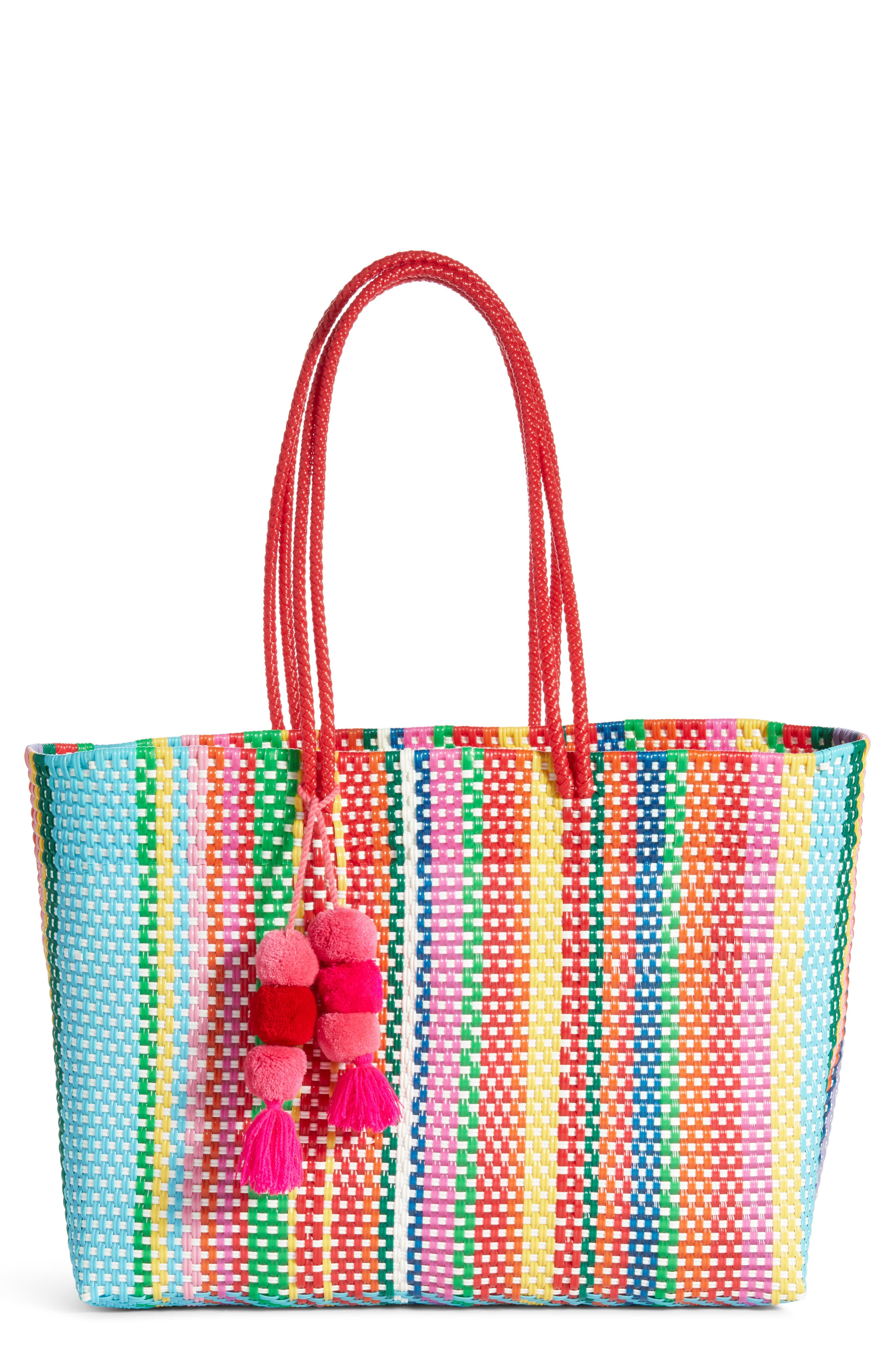 Large Stella Long Handle Tote,                         Main,                         color, MULTI