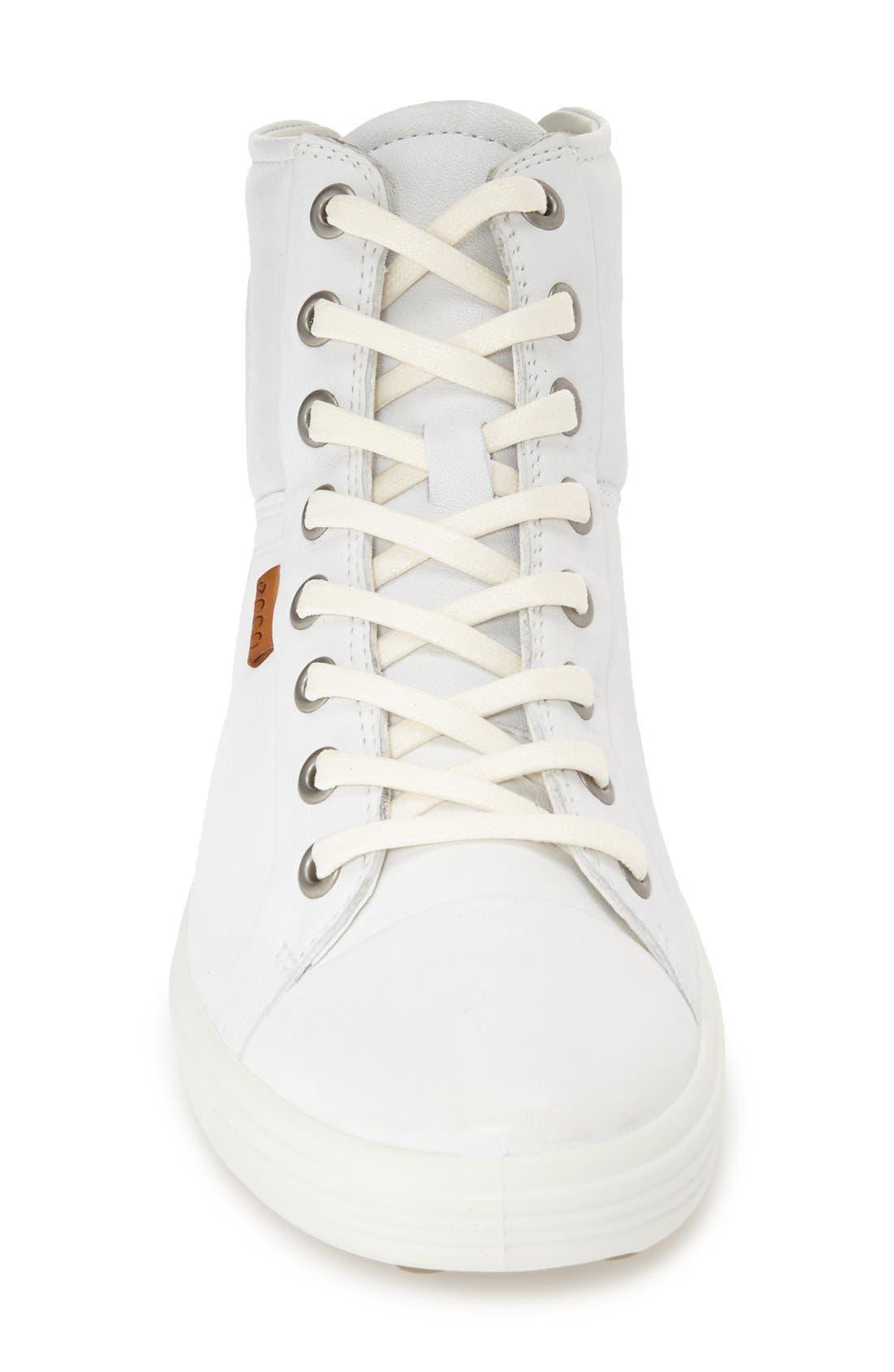 'Soft 7' High Top Sneaker,                             Alternate thumbnail 3, color,                             WHITE