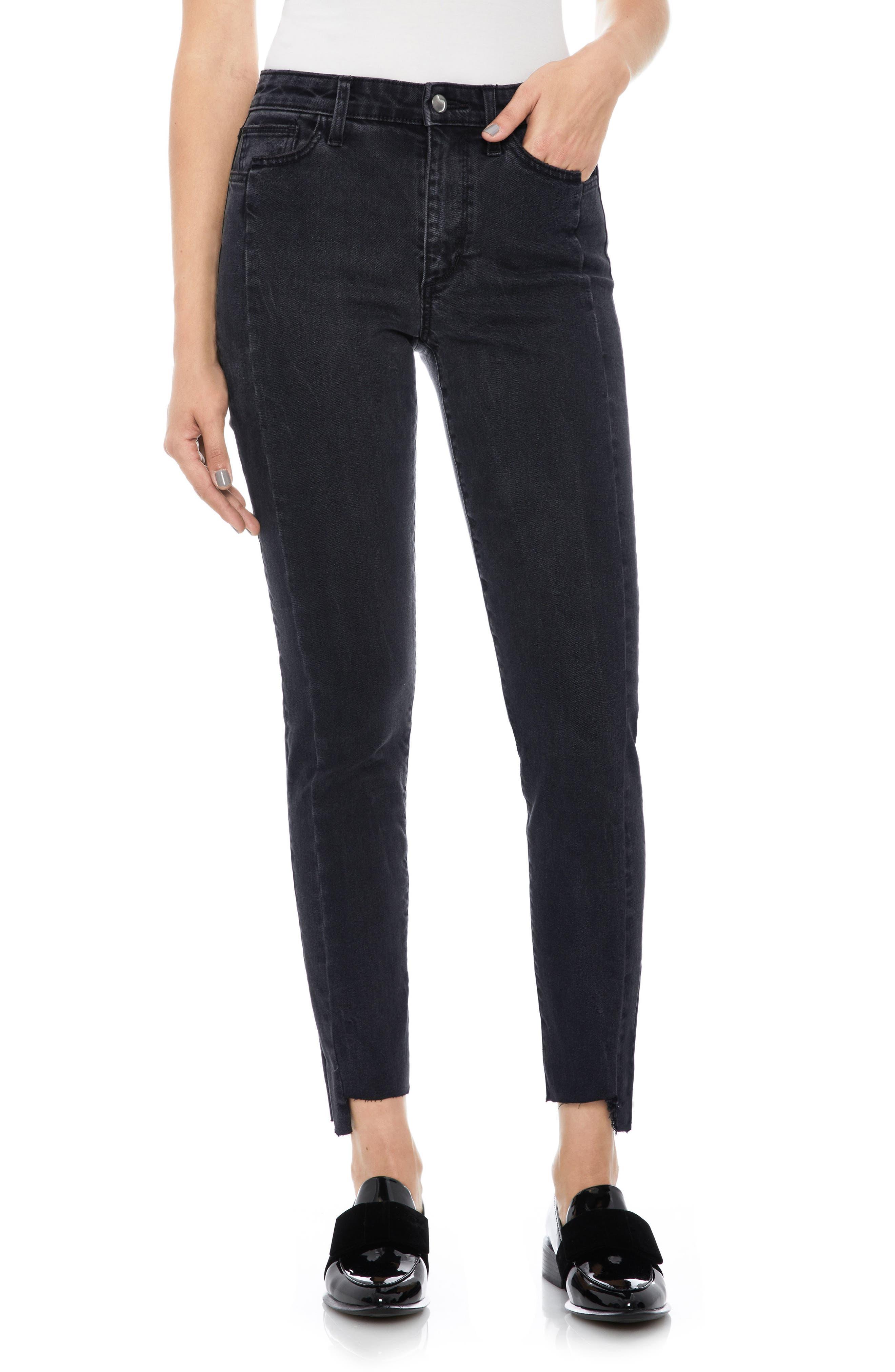 Taylor Hill x Joe's Kass Raw Step Hem Ankle Skinny Jeans,                         Main,                         color, 011