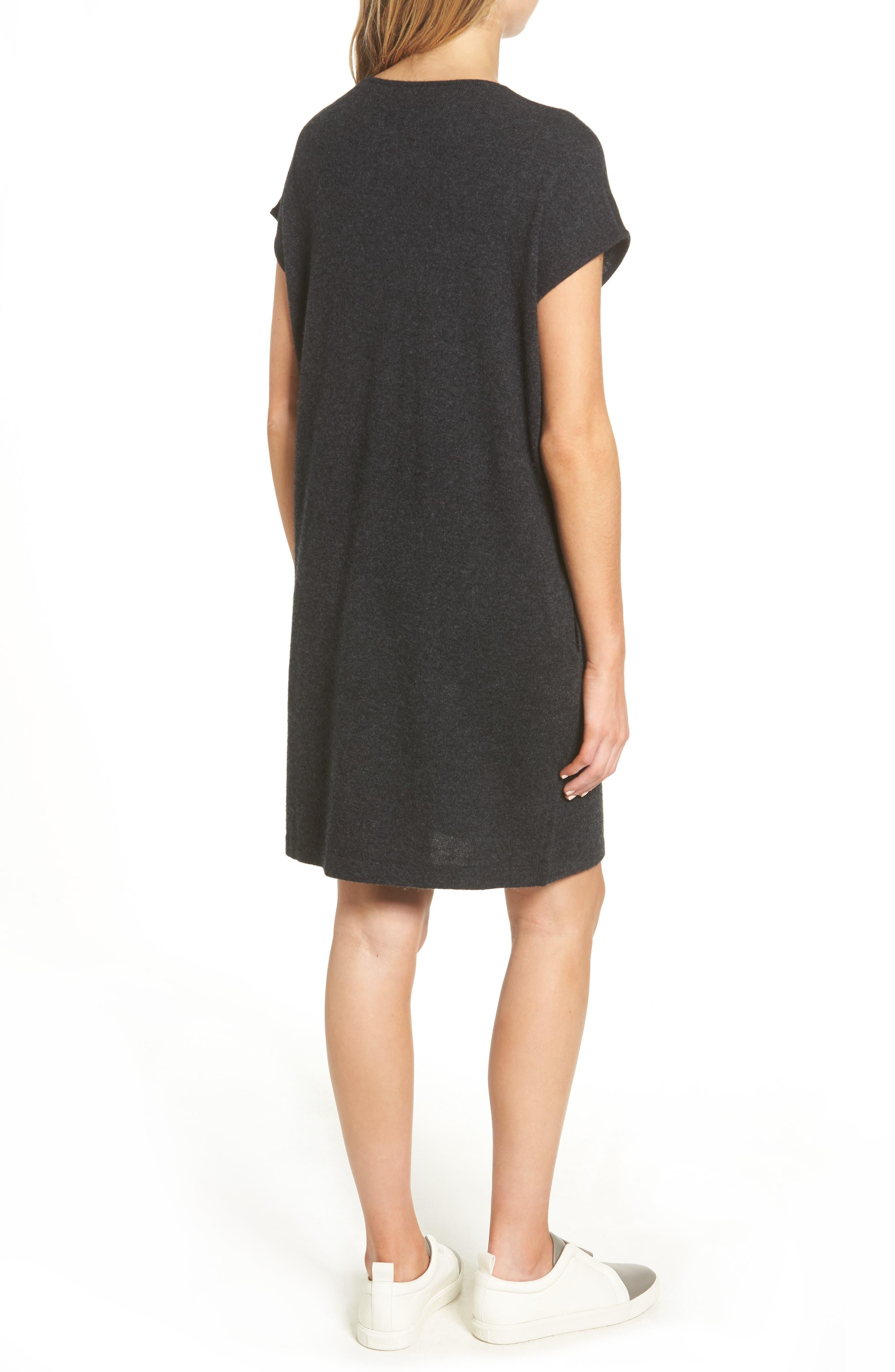 Cashmere Tunic Sweater Dress,                             Alternate thumbnail 2, color,
