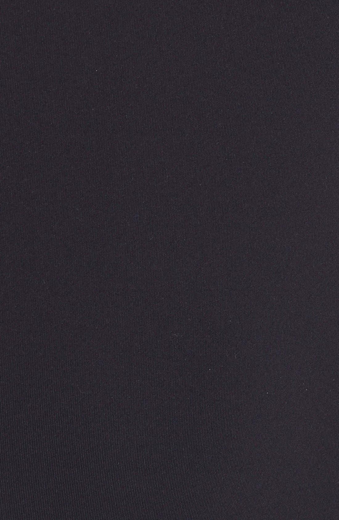 'Bianca Noir' Full Length Bodysuit,                             Alternate thumbnail 3, color,                             001