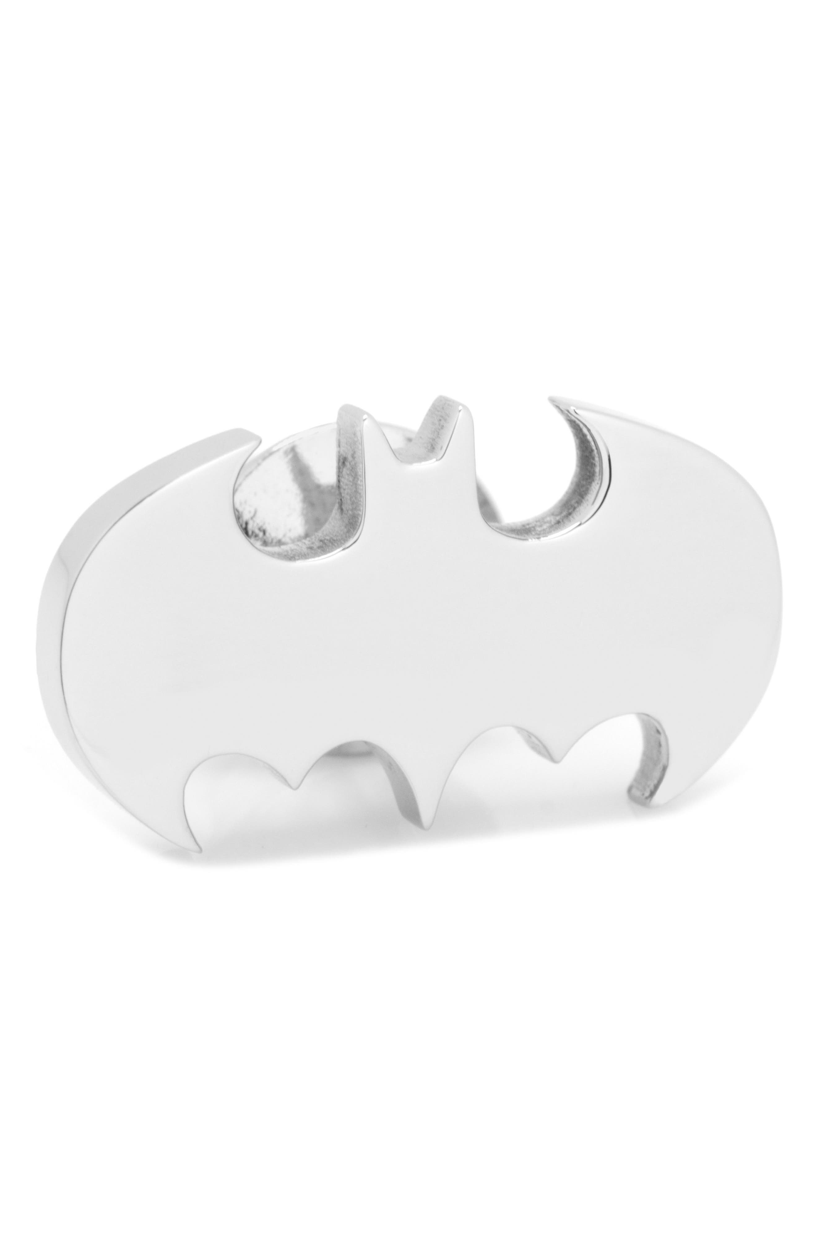 Batman Lapel Pin,                         Main,                         color, SILVER