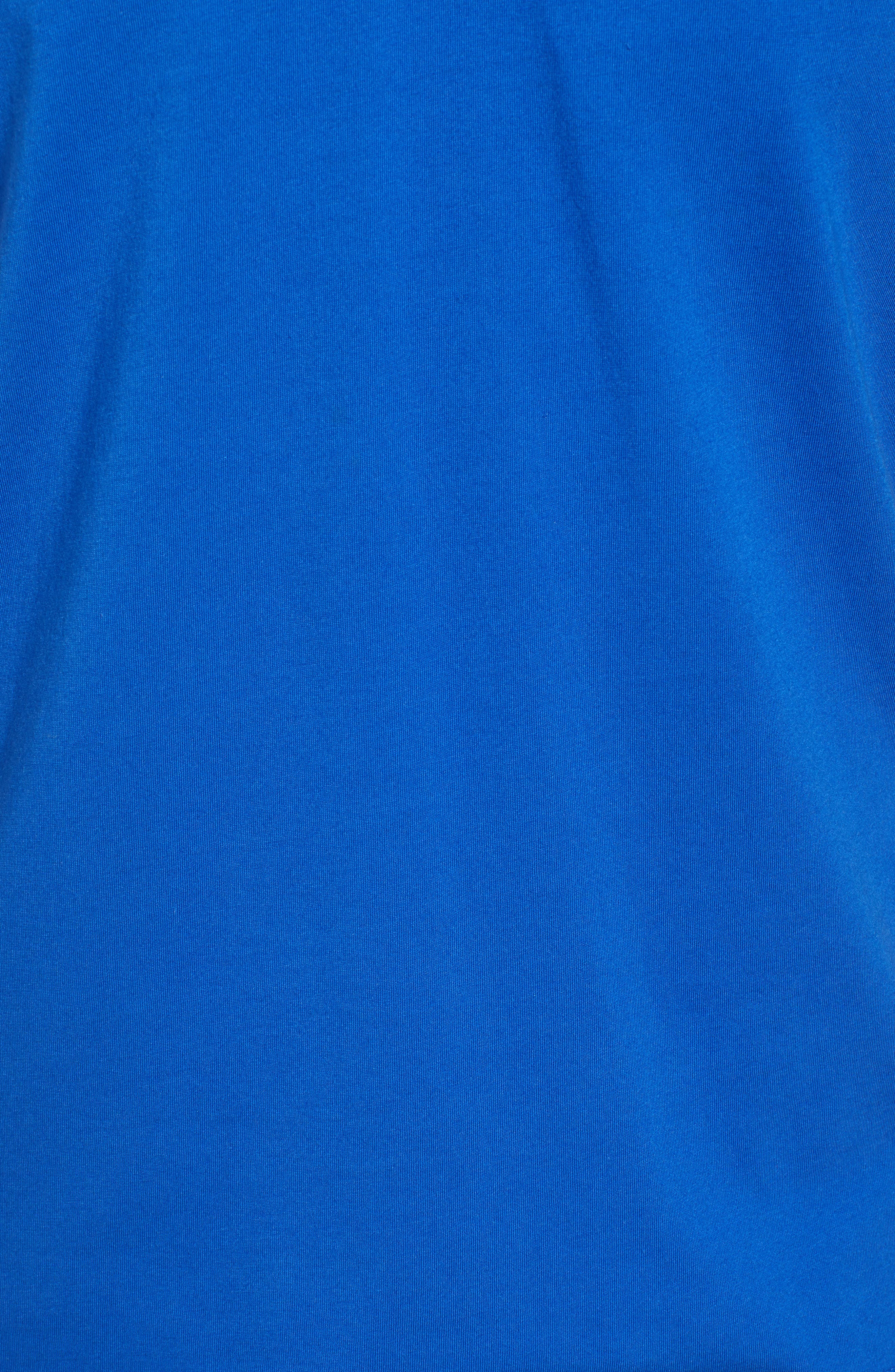 Derry Modern Slim Fit Polo,                             Alternate thumbnail 5, color,                             BRIGHT BLUE