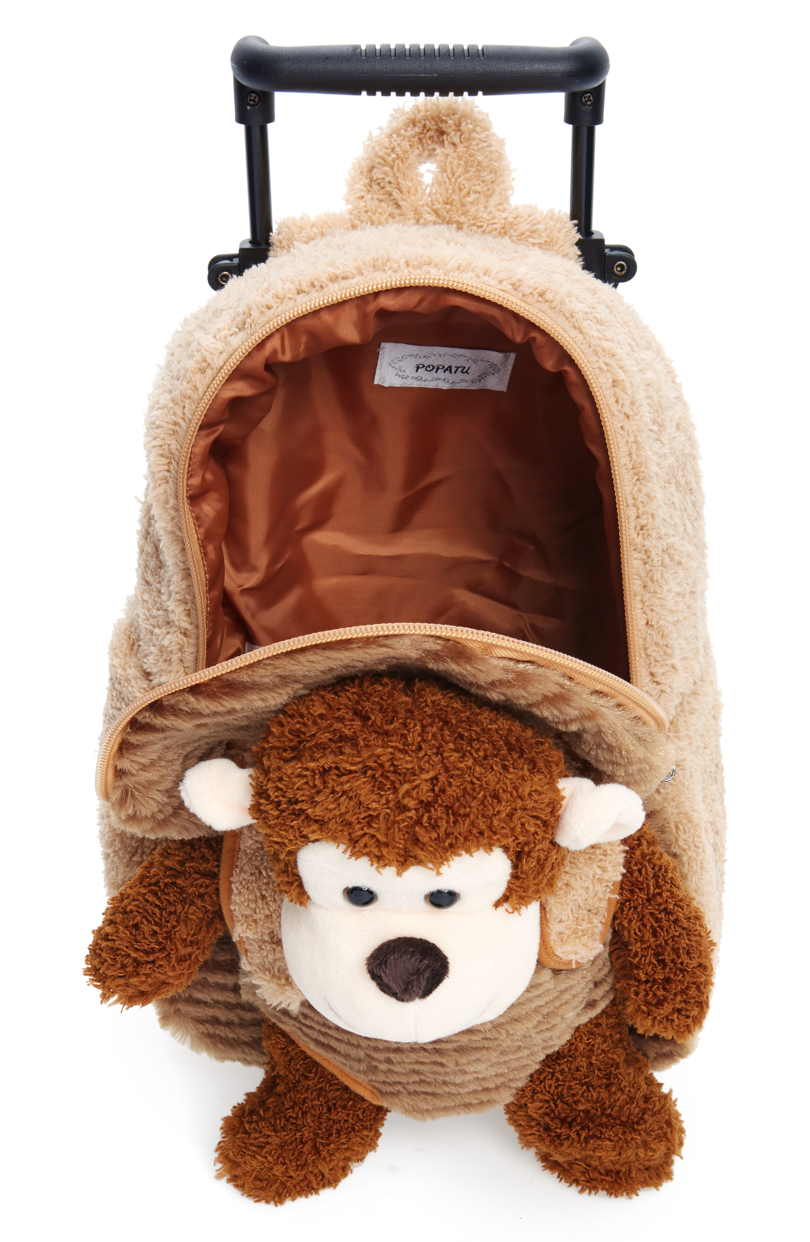 Trolley Rolling Backpack Set,                             Alternate thumbnail 4, color,                             MONKEY